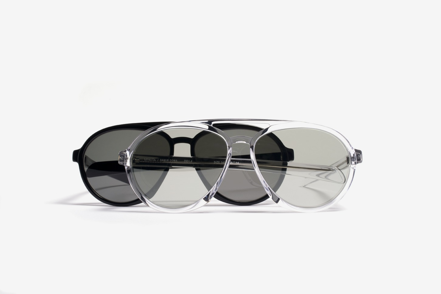 MYKITA No2 Sun Dd1 Group Limpid Black Adjgray