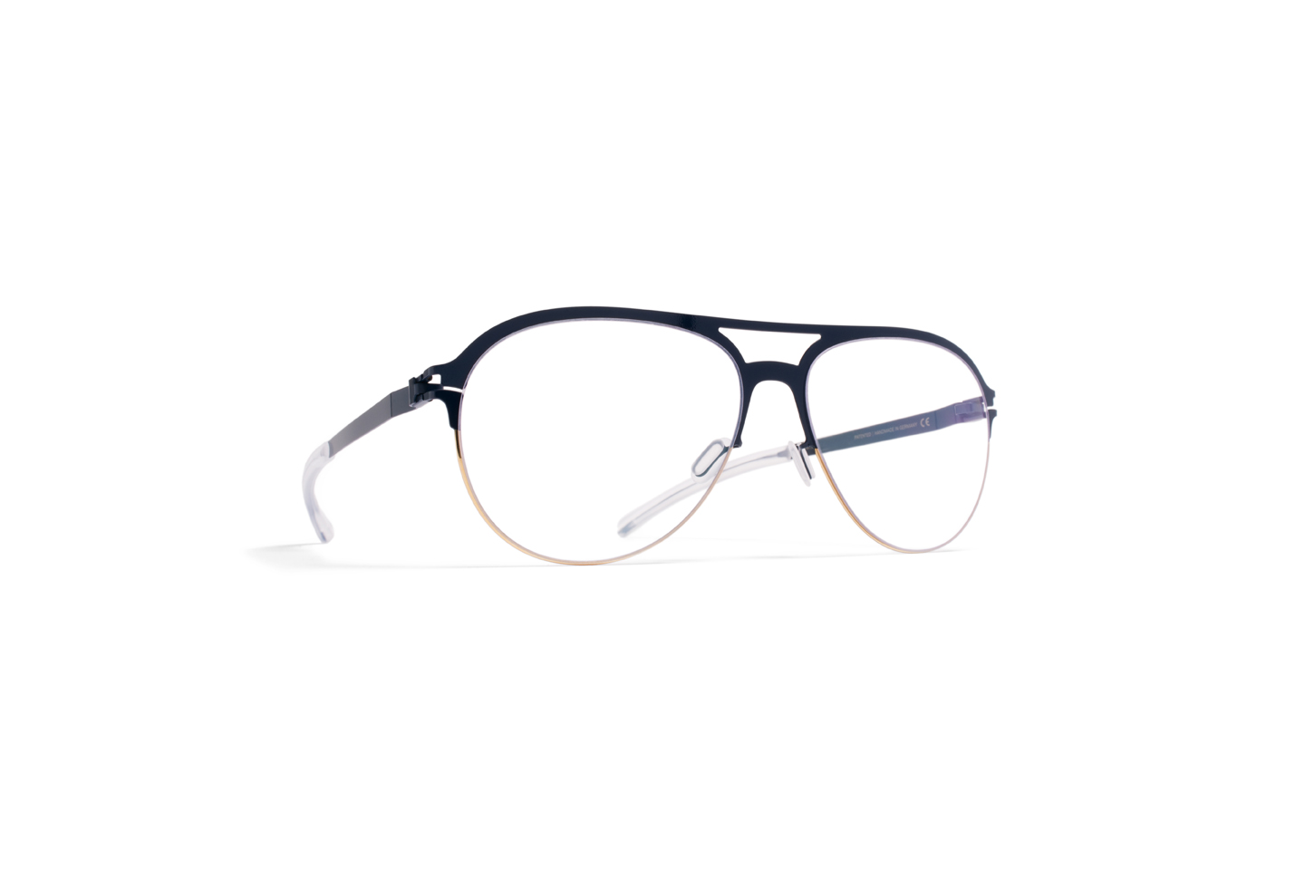 MYKITA Decades Rx Mason Gold Midnight Clear