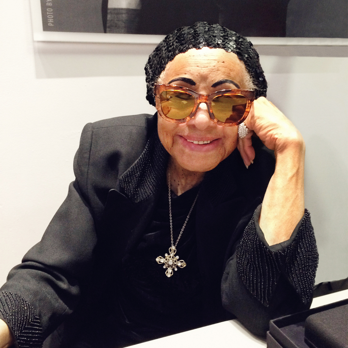 Legendary jazz singer Dawn Hampton, who inspired the name for MYKITA / Damir Doma's female sunglasses DAWN.