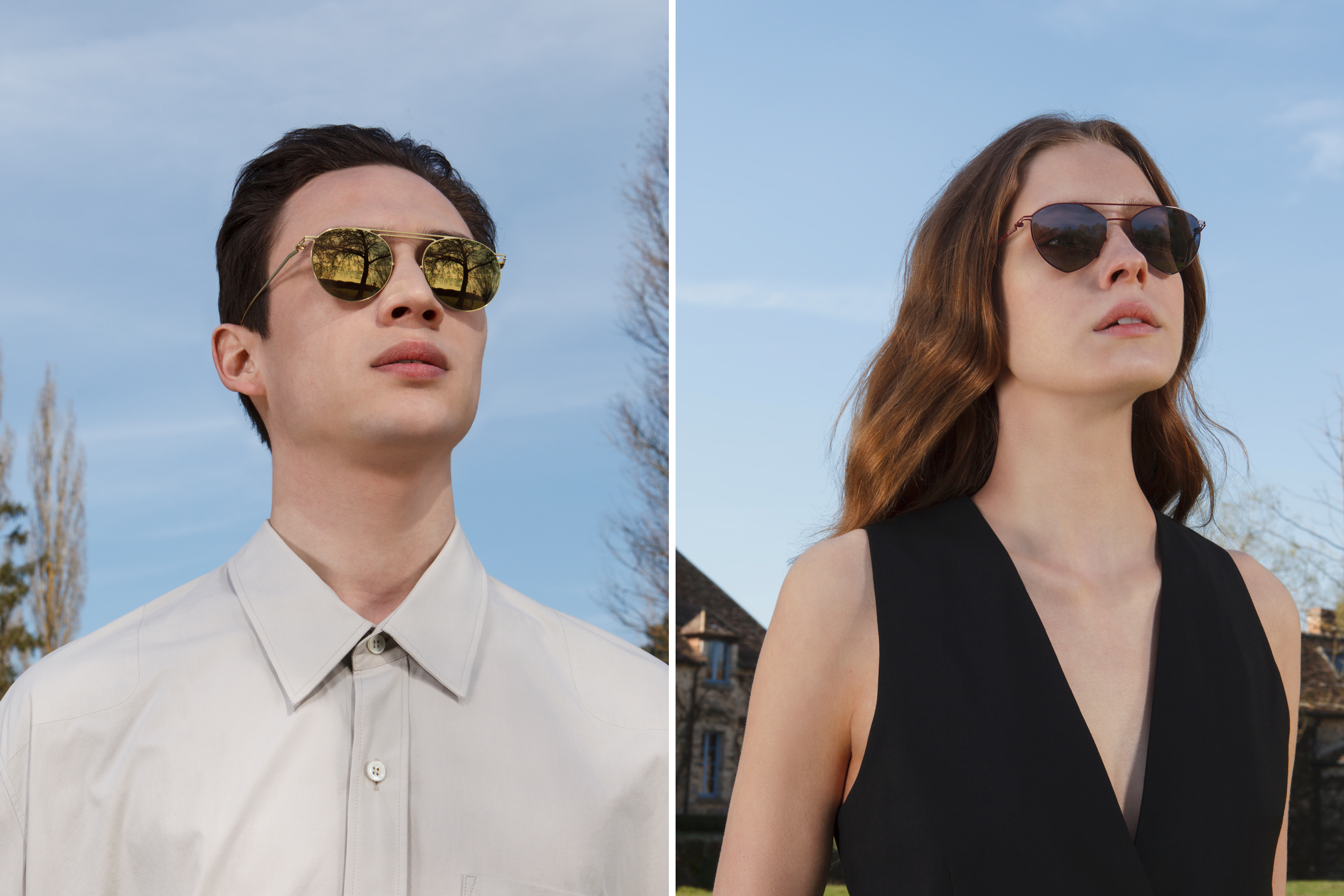 Sunglasses by MYKITA + Maison Margiela in their 2015 campaign. Photography by Charles Fréger.