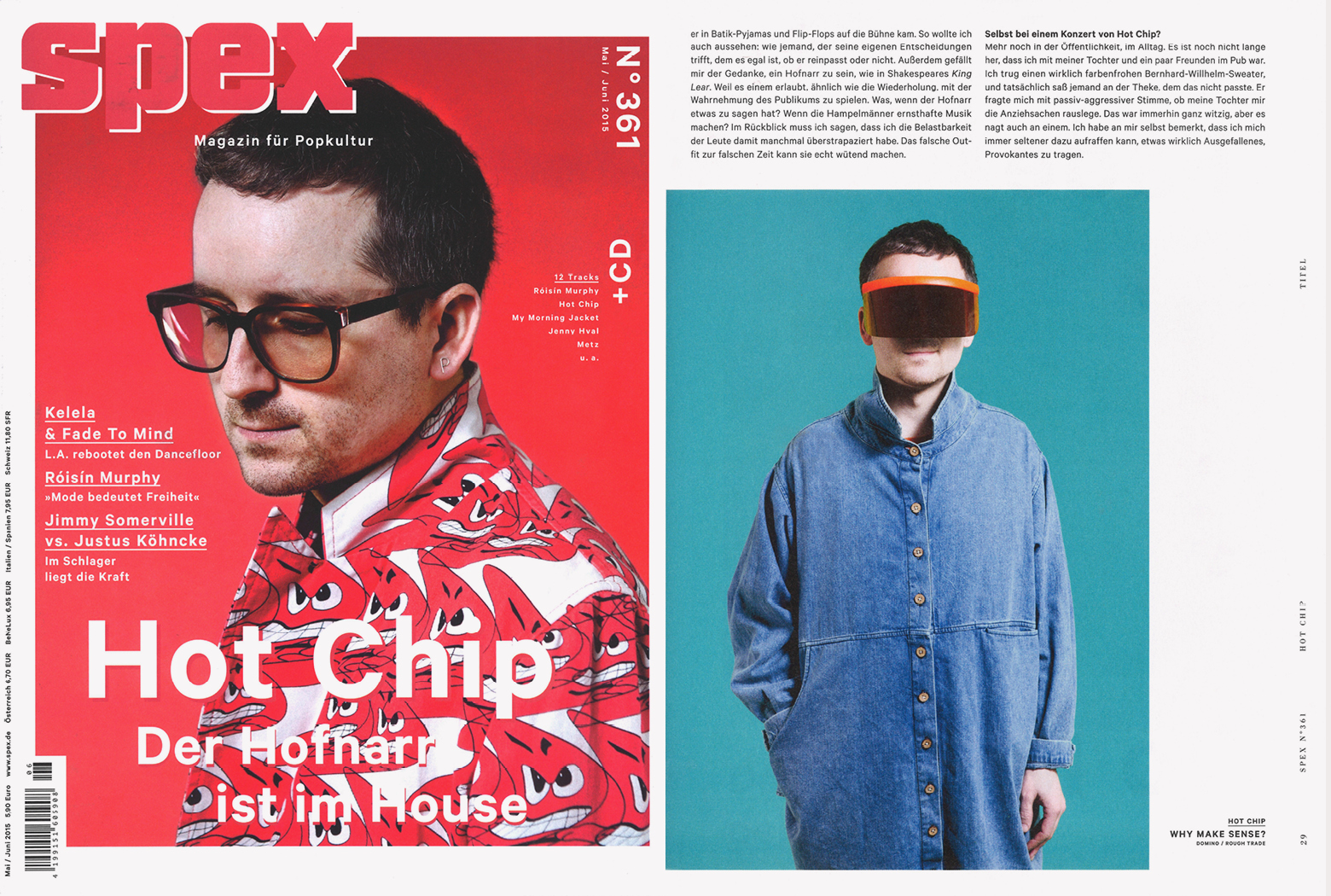 MYKITA & Bernhard Willhelm sunglasses DAISUKÉ featured in SPEX Germany