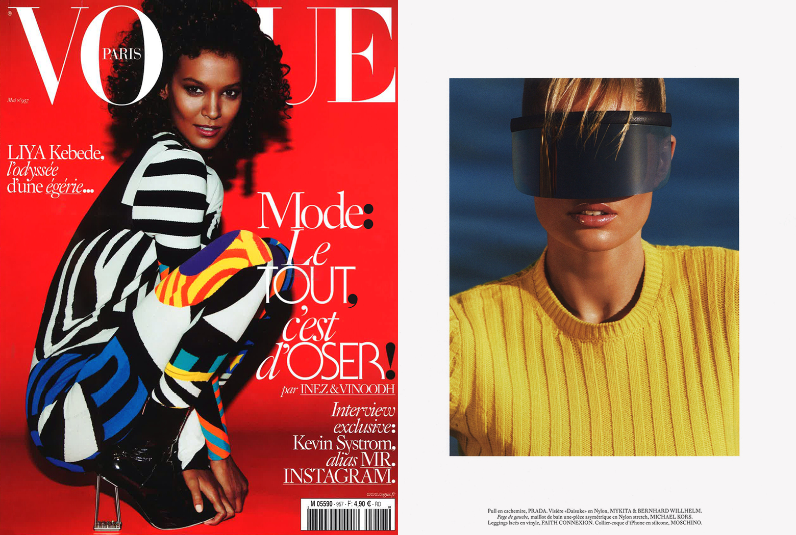 MYKITA & Bernhard Willhelm sunglasses DAISUKÉ featured in VOGUE France