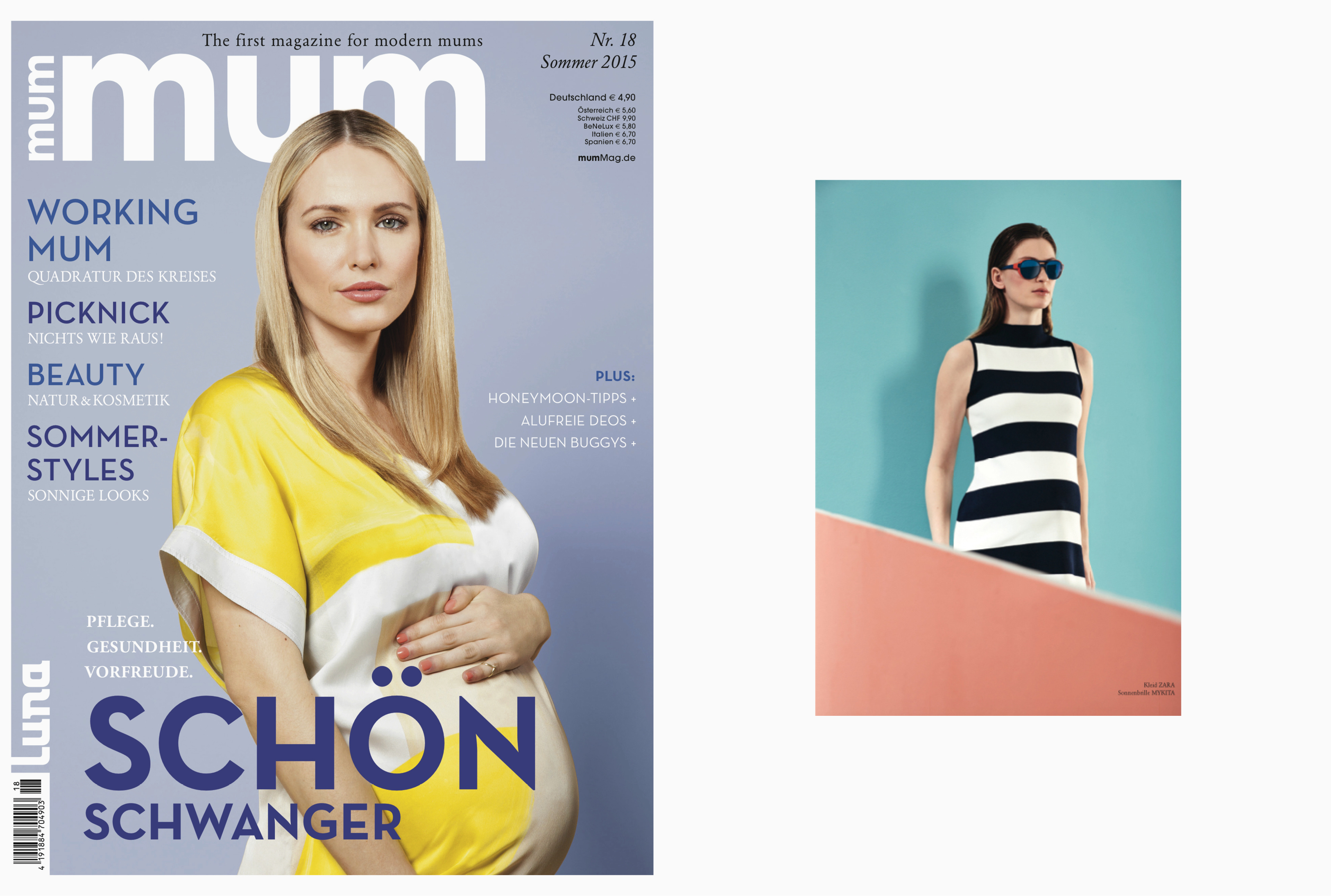 MYKITA MYLON sunglasses ANSELME featured in MUM Germany