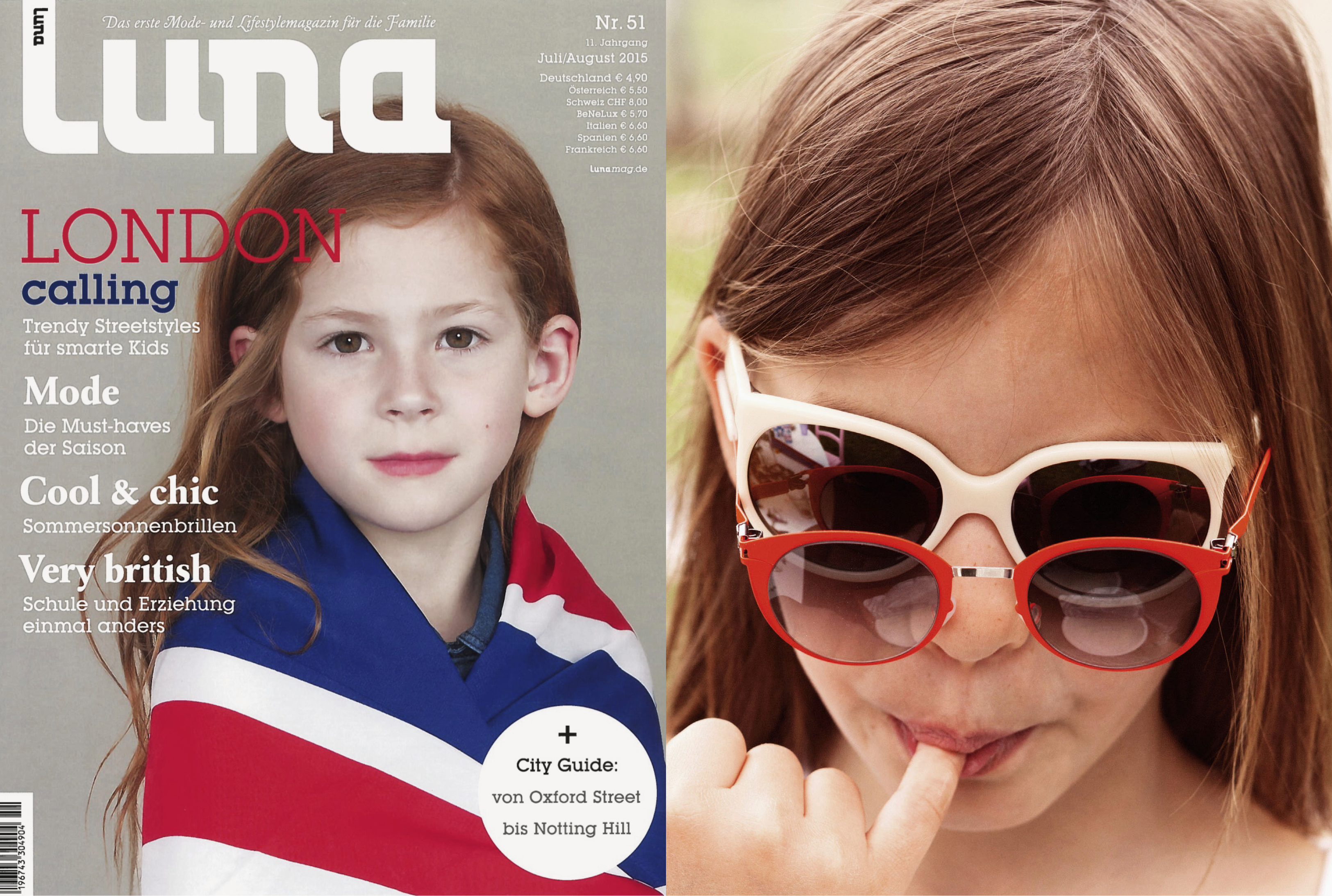 MYKITA FIRST sunglasses DODO featured in LUNA Germany