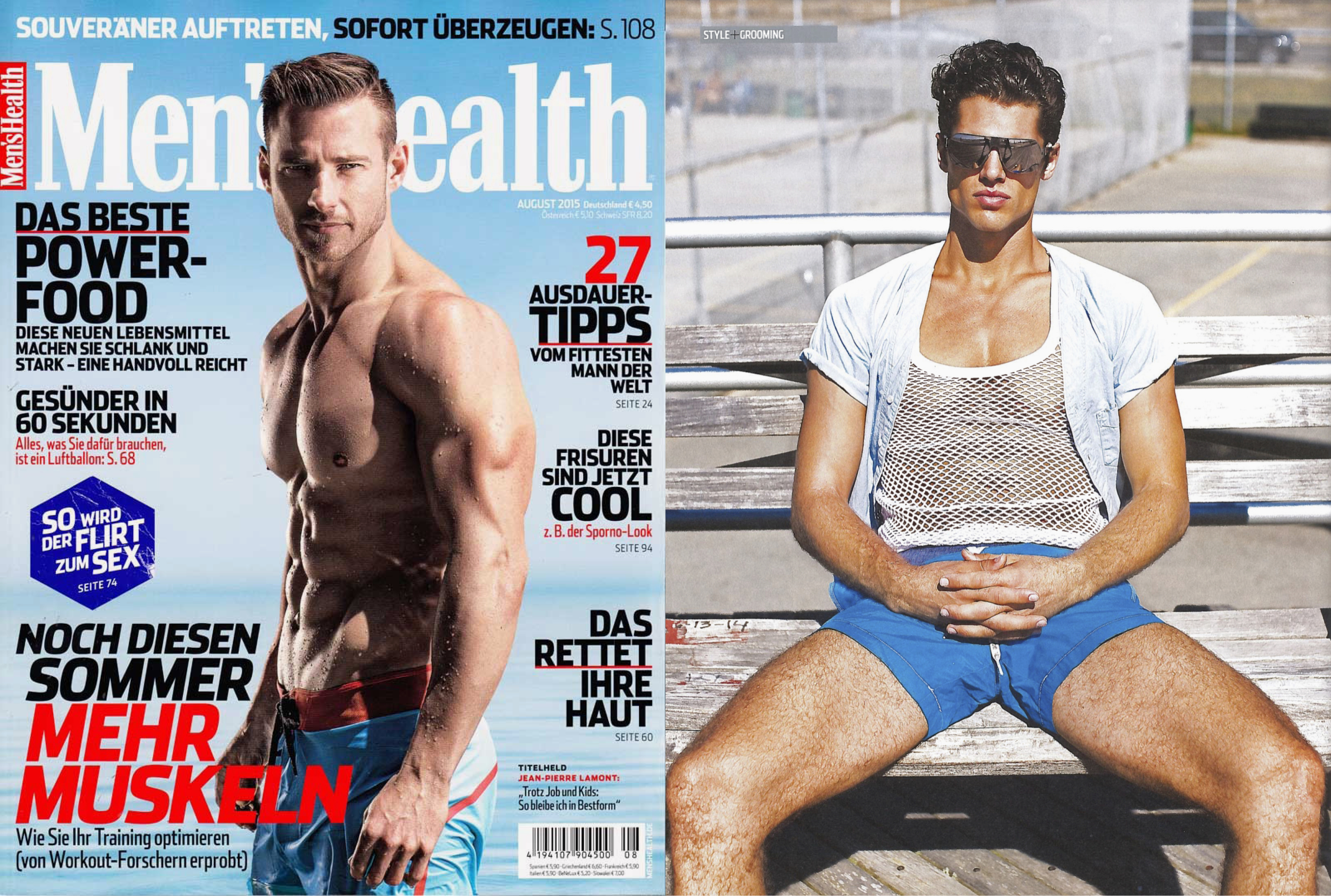 MYKITA & Bernhard Willhelm sunglasses XAVER featured in Men's Health Germany