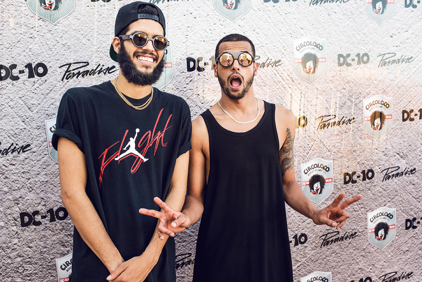 The Martinez Brothers wearing MYKITA sunglasses before their set at Circoloco in Ibiza