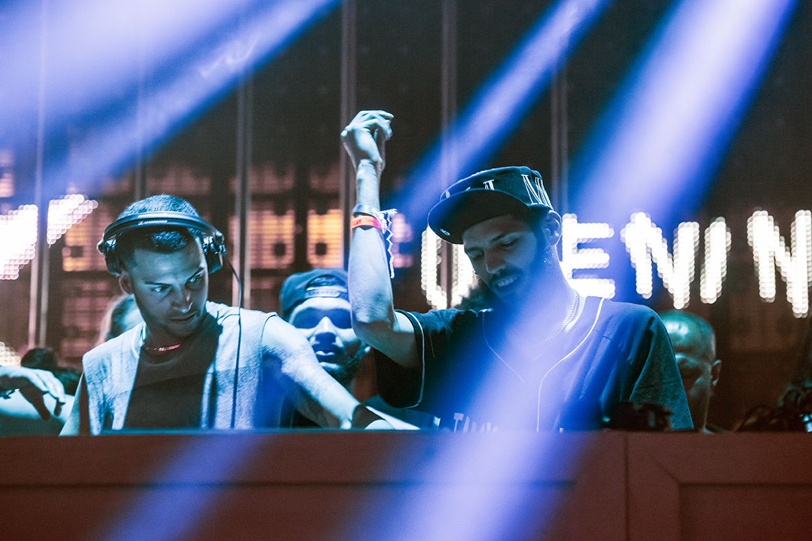 The Martinez Brothers during their set at the opening party of Ushuaia in Ibiza