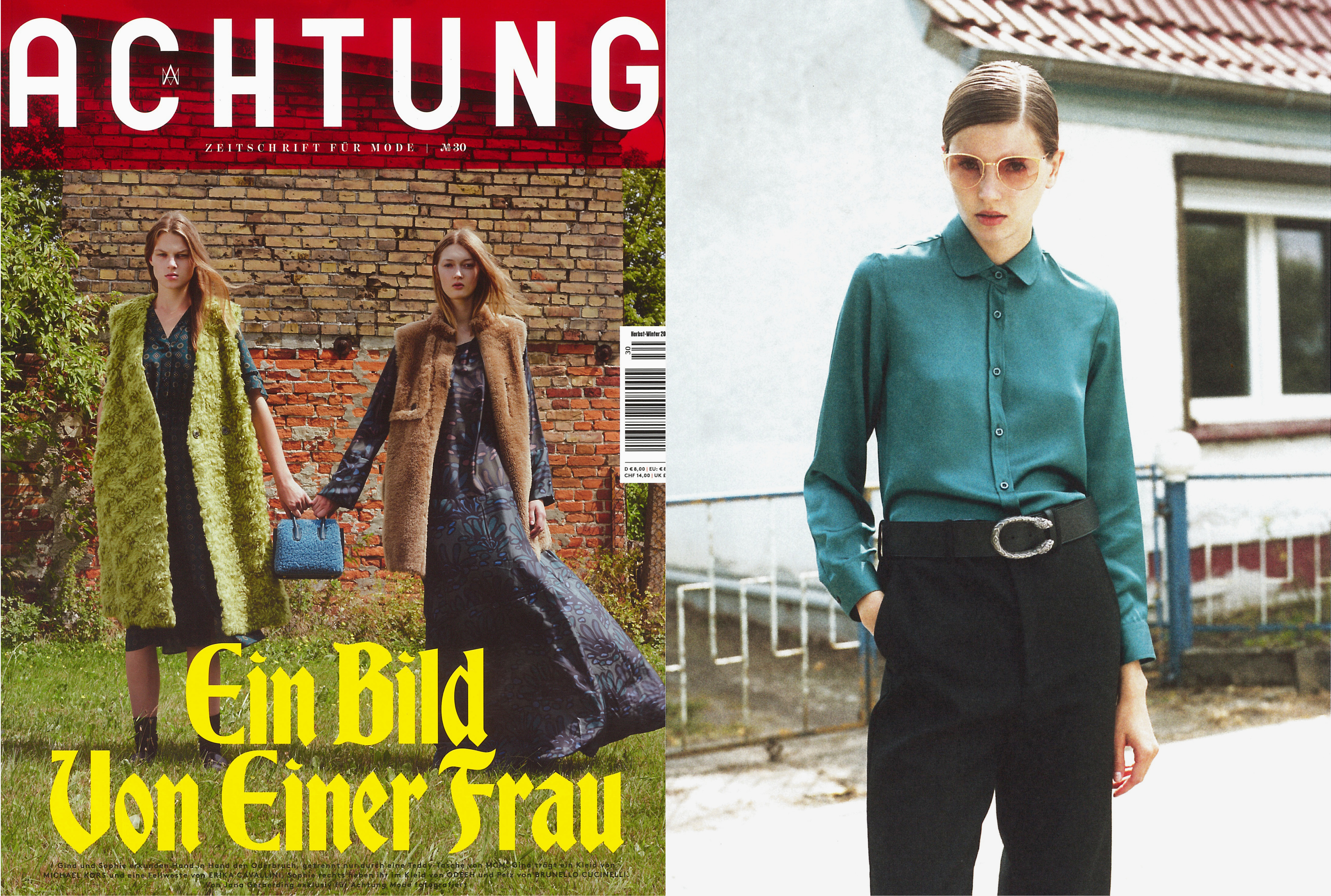 MYKITA LITE sunglasses LINNEA featured in ACHTUNG Germany