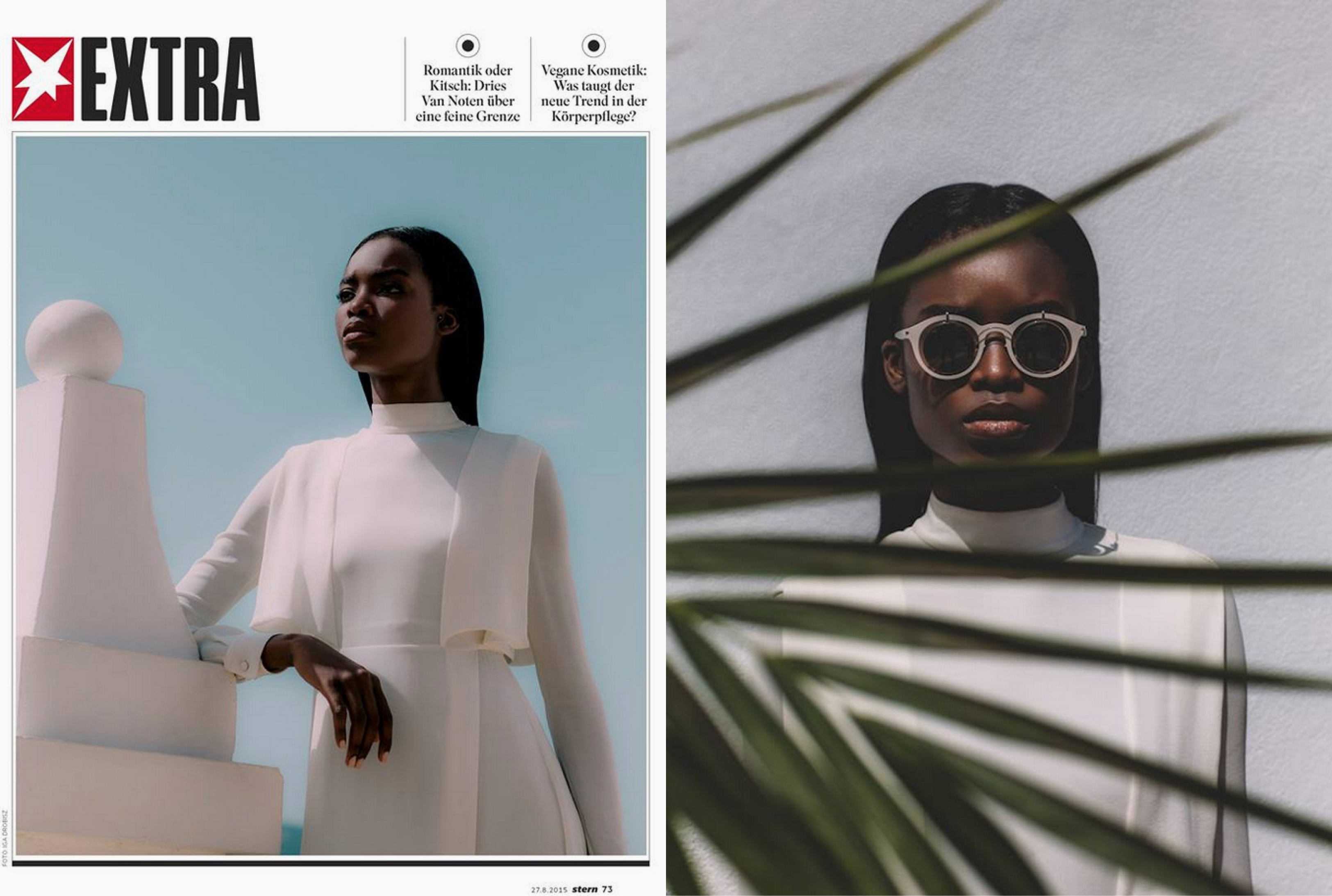 MYKITA / DAMIR DOMA sunglasses BRADFIELD featured in STERN EXTRA Germany