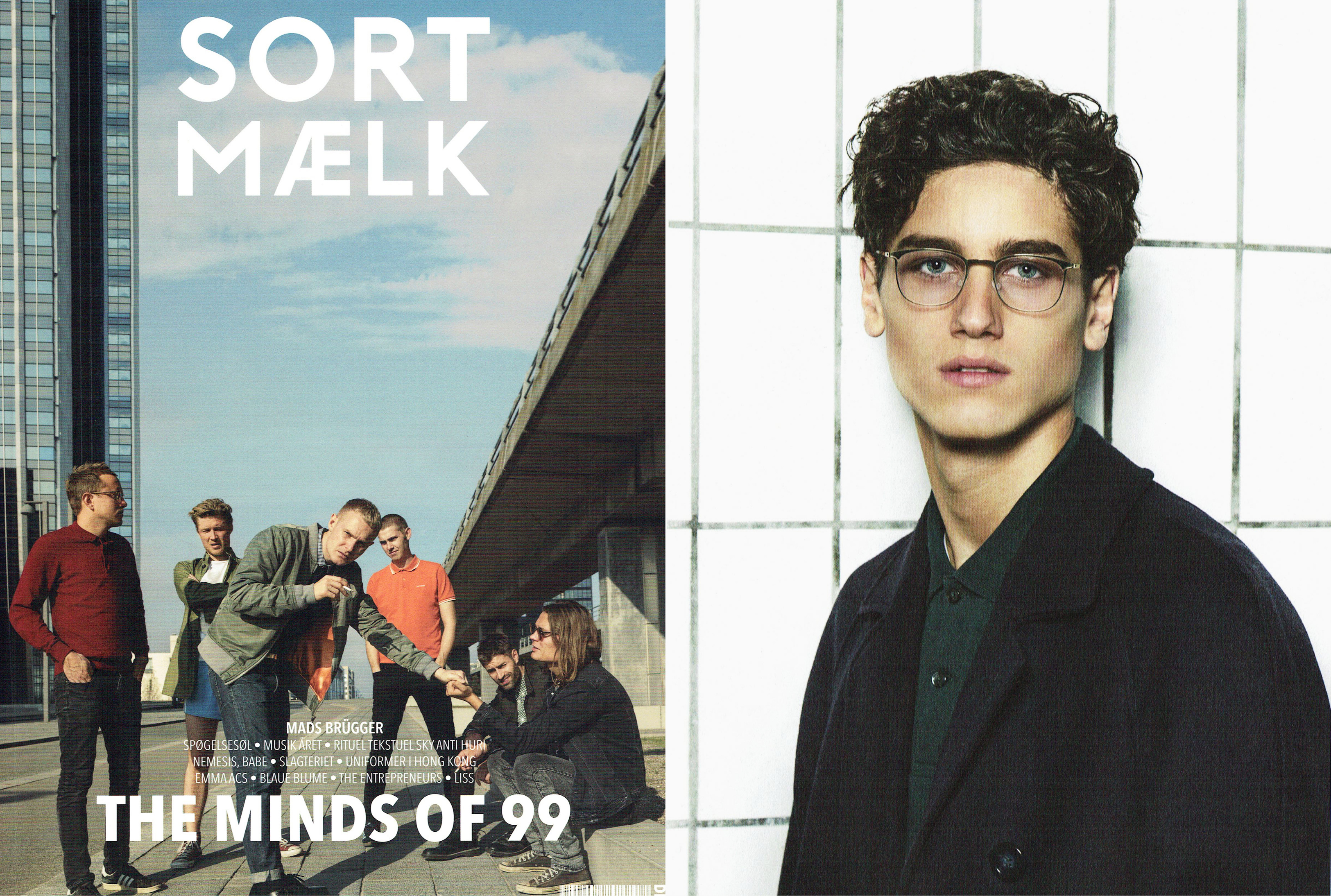 MYKITA LITE glasses LYKKE featured in SORTMAELK Denmark