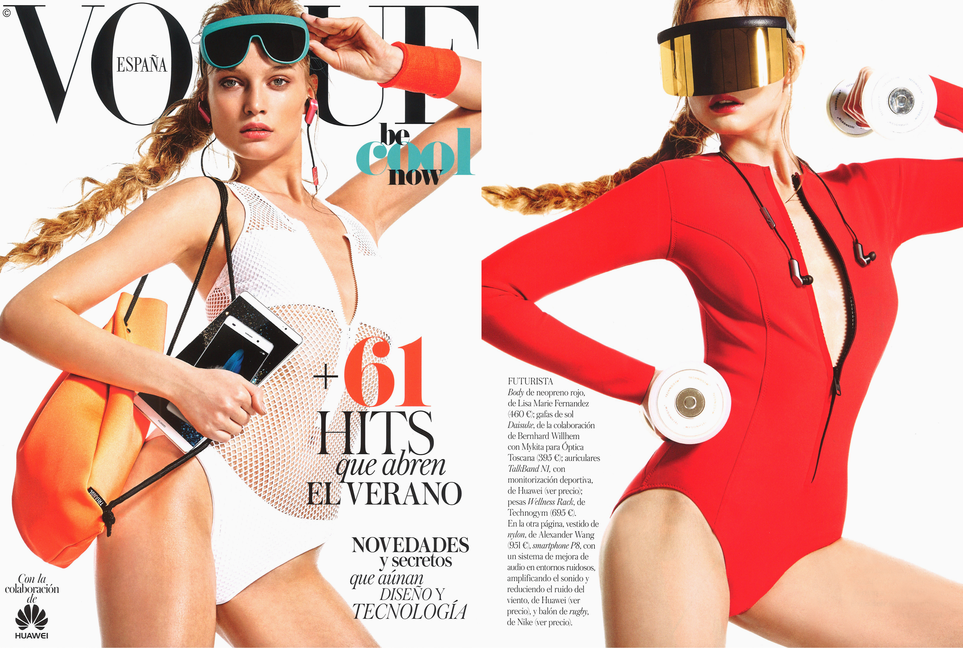 MYKITA & BERNHARD WILLHELM sunglasses VEGA and DAISUKÉ featured in VOGUE Spain
