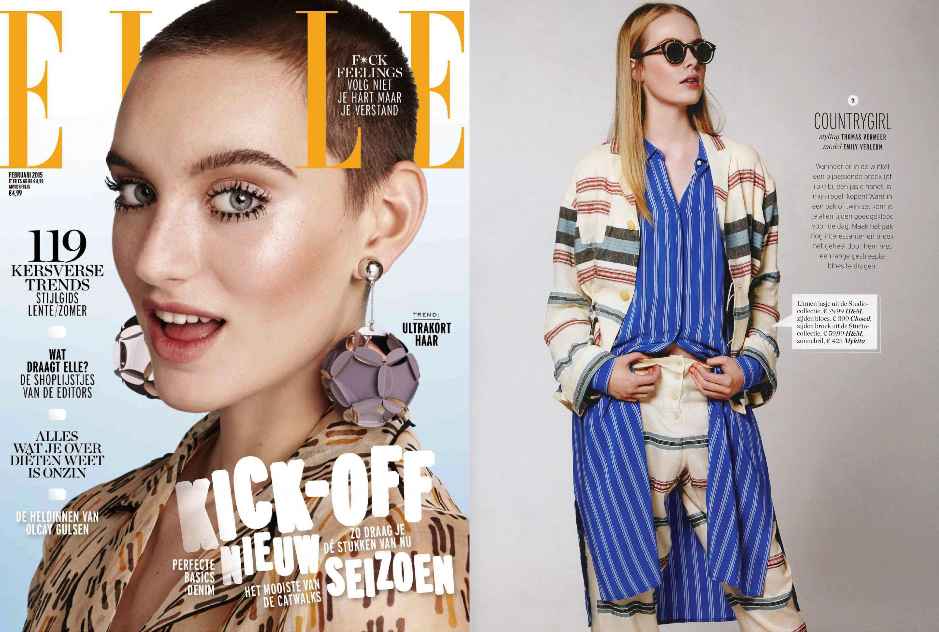 MYKITA / DAMIR DOMA sunglasses BRADFIELD featured in Elle Netherlands
