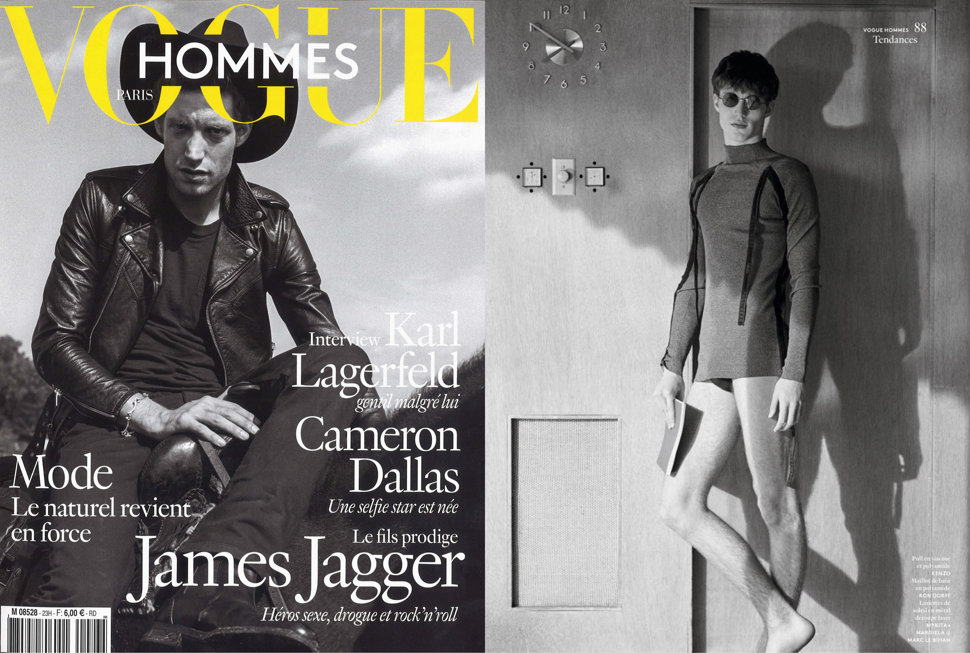 MYKITA + MAISON MARGIELA sunglasses MMESSE002 featured in Vogue Hommes Paris