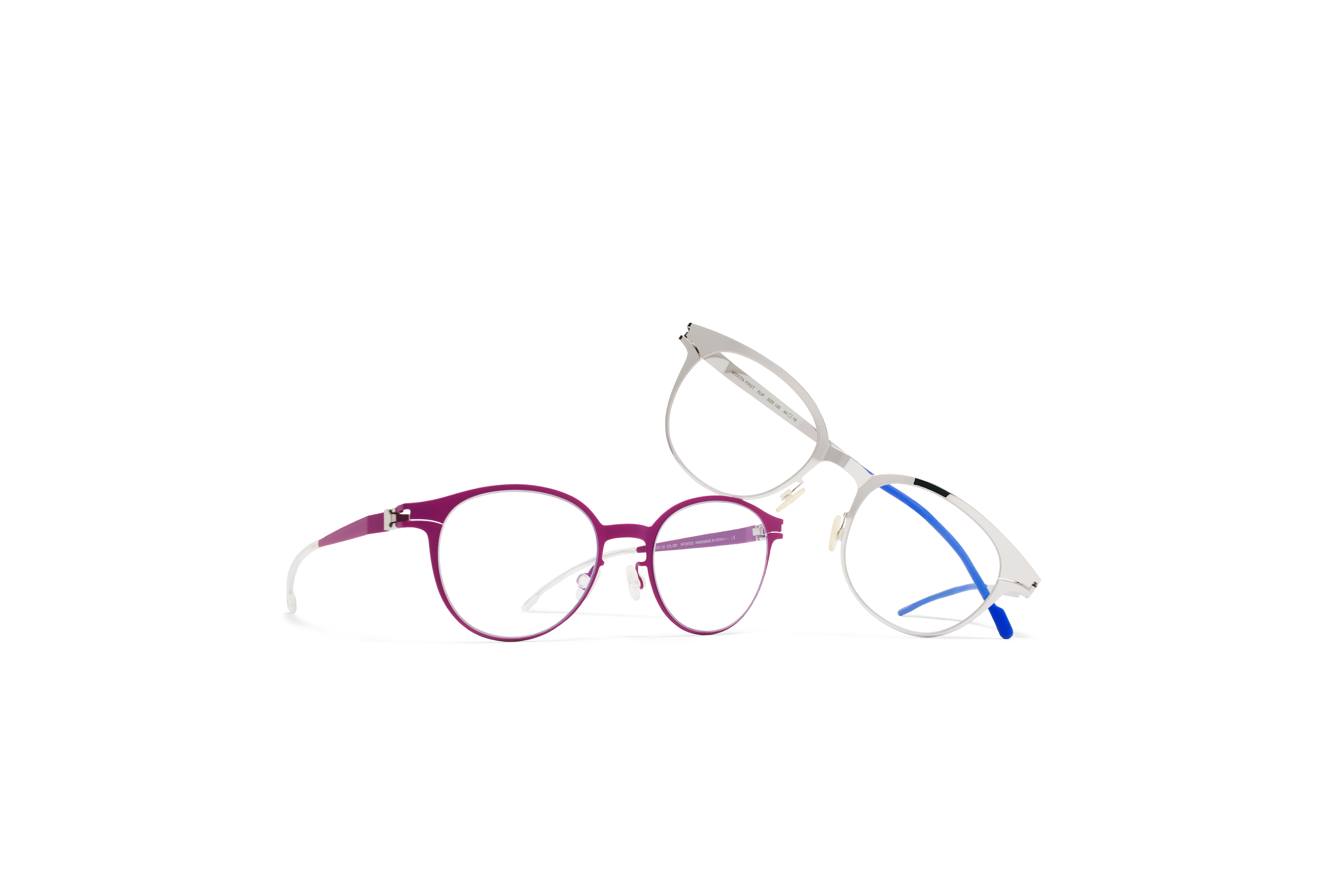 MYKITA First Rx Flip Shinysilver Clear First Rx Koala R2 Lilac Clear Gs3 Tif