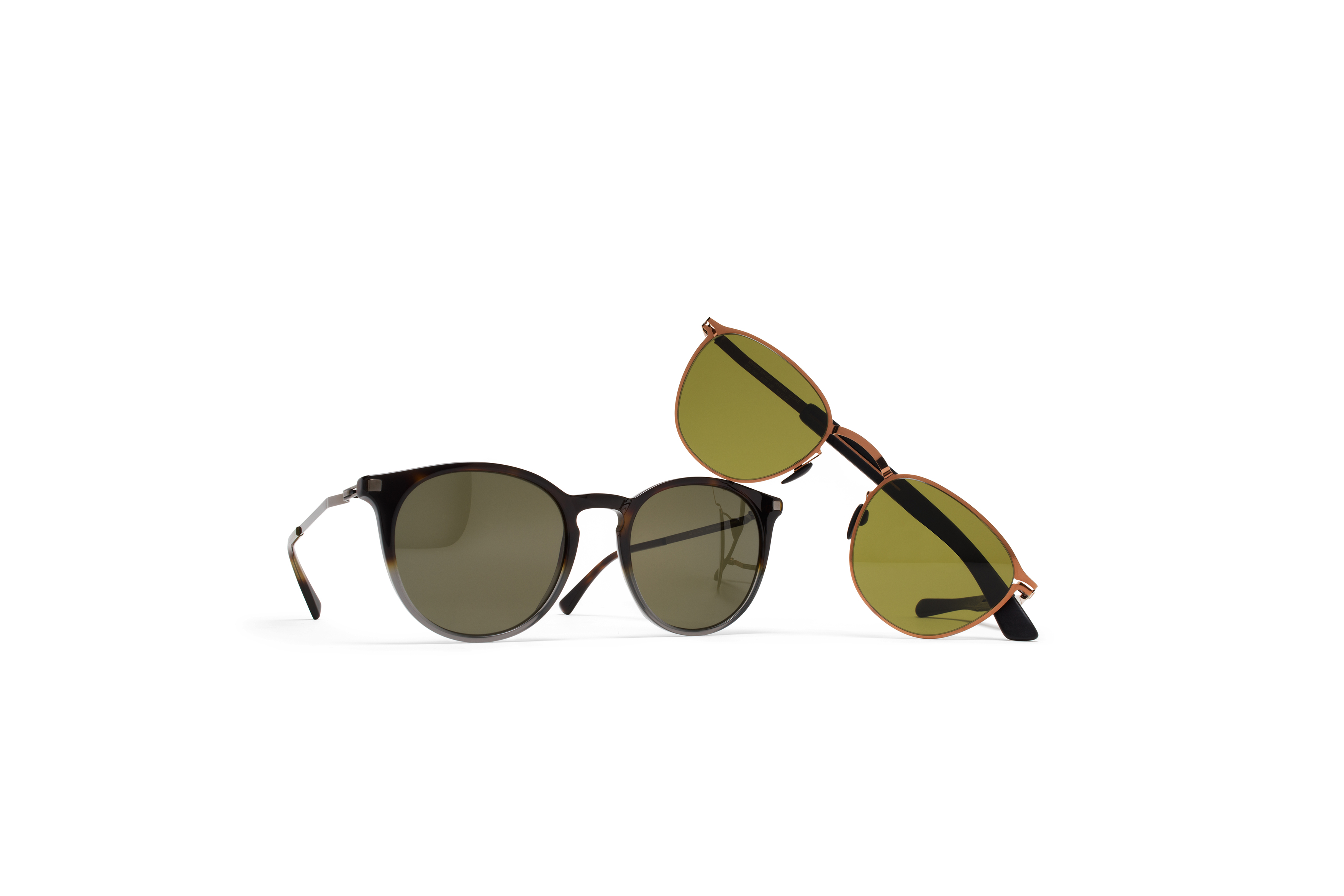 MYKITA Mylon Sun Clove Mh5 Shinycopper Pitch Black Hollygreen Solid Lite Sun Keelut Santiago Gradient Shi