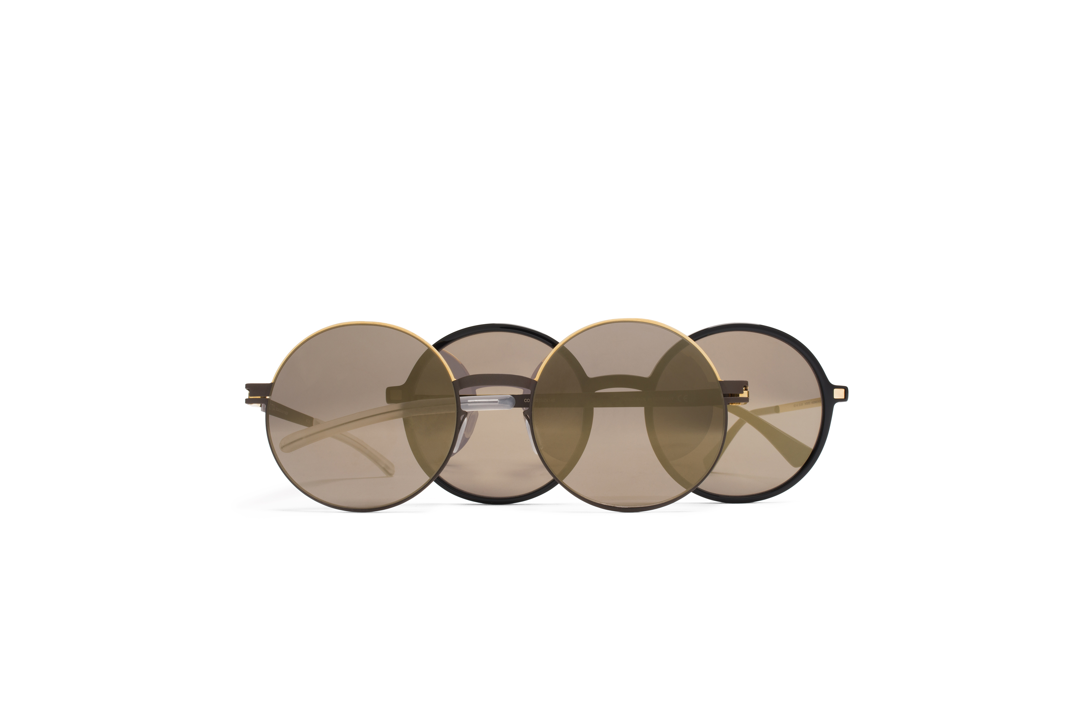 MYKITA Lite Sun Anana Black Glossygold Brilliantgrey Solid Decades Sun Alice Gold Terra Brilliantgrey Solid Gs