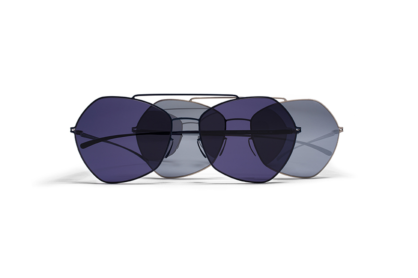 MYKITA Mm Sun Mmesse012 E10 Darkblue Indigo Solid E1 Silver Silver Flash Gs