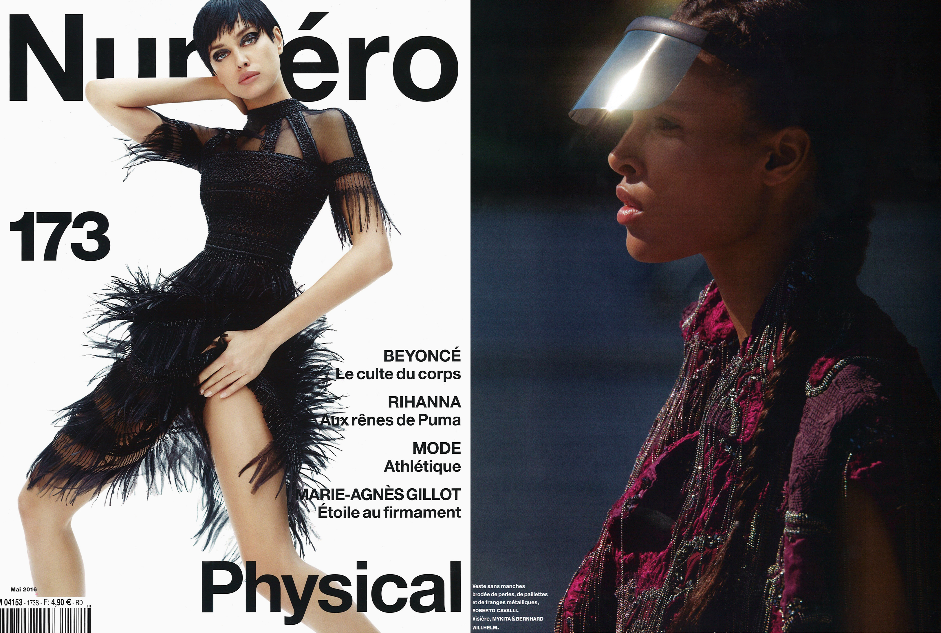 MYKITA & BERNHARD WILLHELM sunglasses DAISUKÉ featured in Numéro France