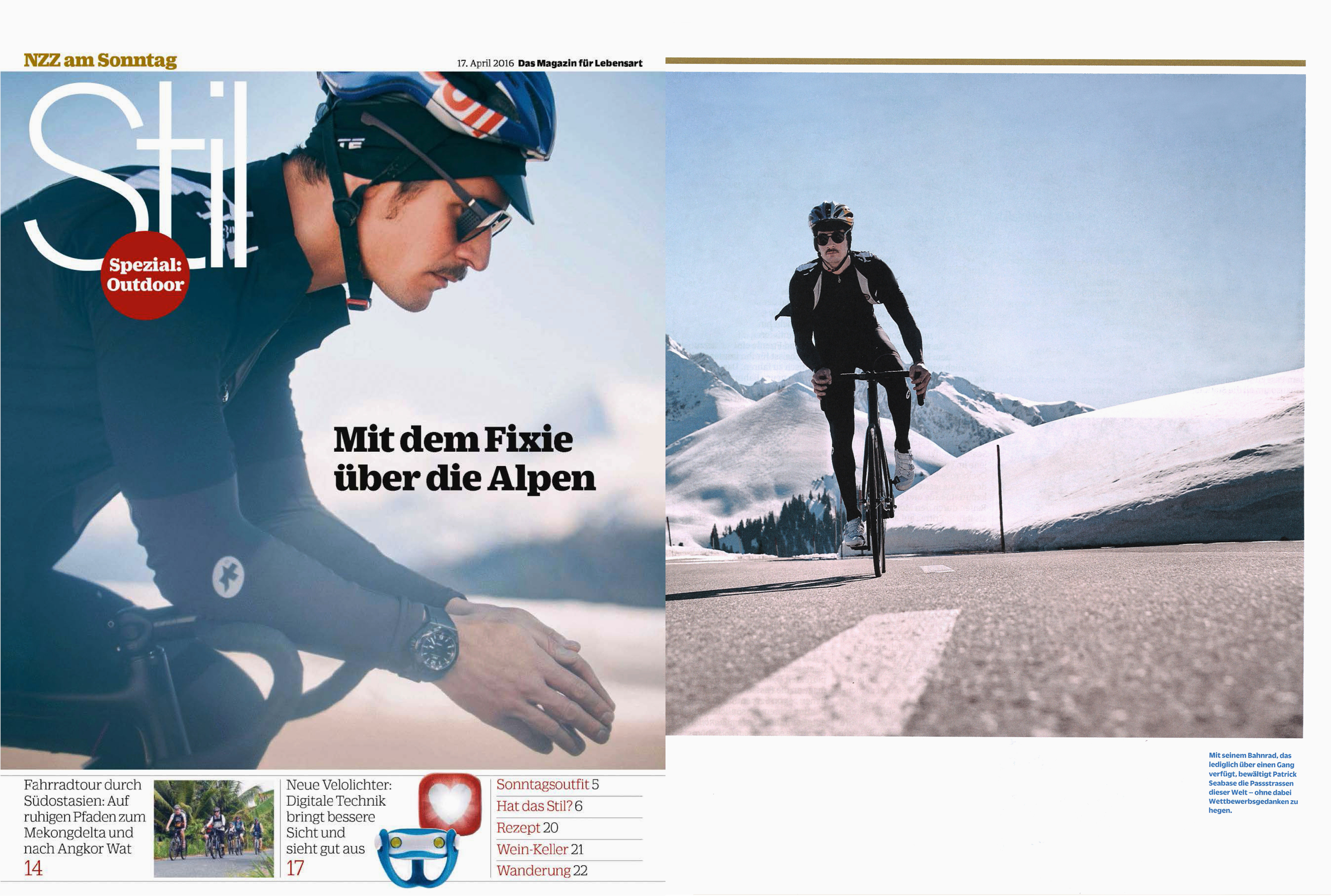 MYKITA MYLON sunglasses TARGA featured in NZZ am Sonntag Stil Switzerland