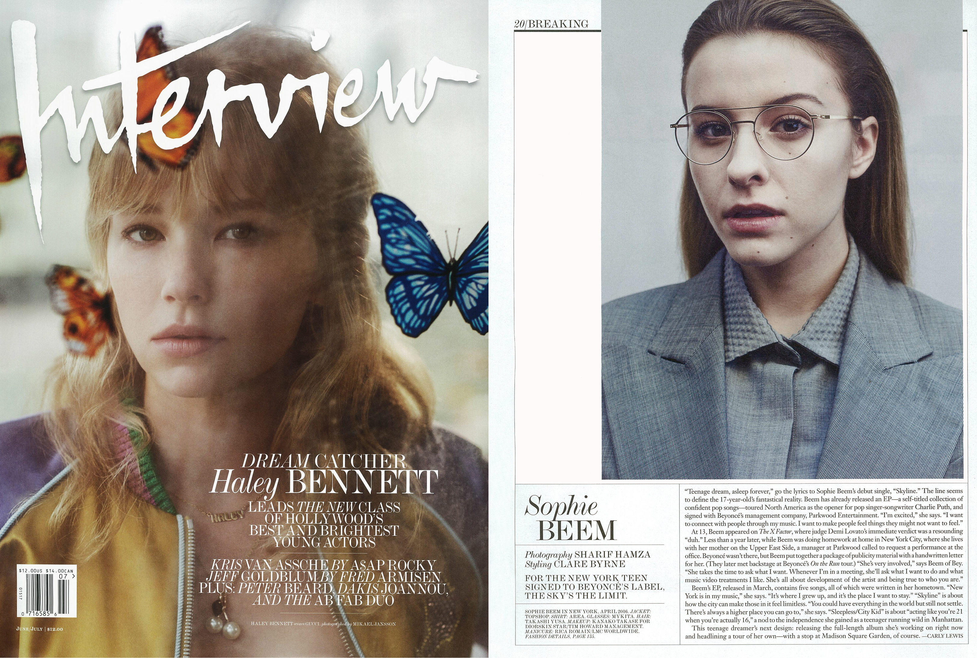 MYKITA LITE glasses KJELL featured in Interview USA
