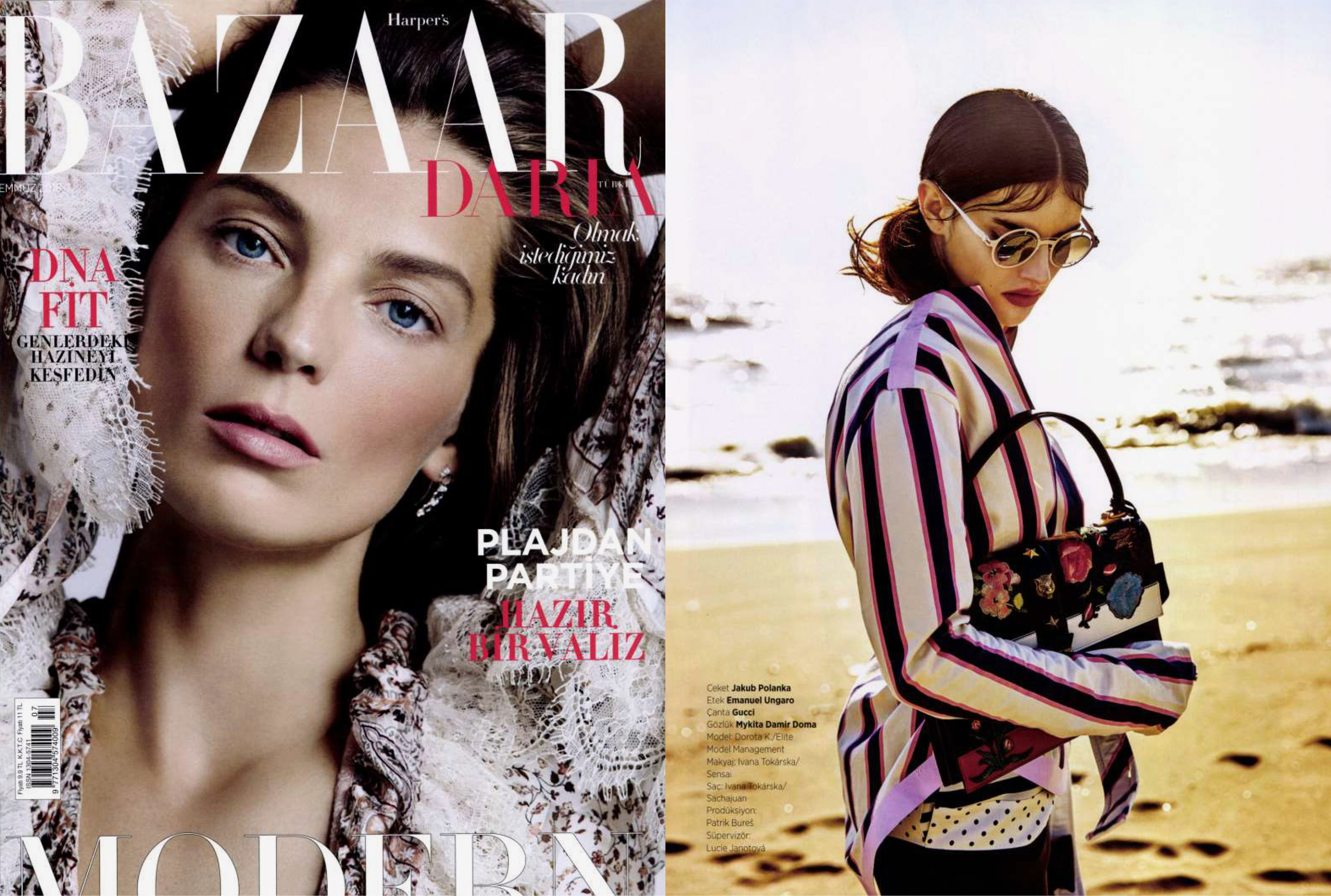 MYKITA / DAMIR DOMA sunglasses MADELEINE featured in Harper's Bazaar Turkey