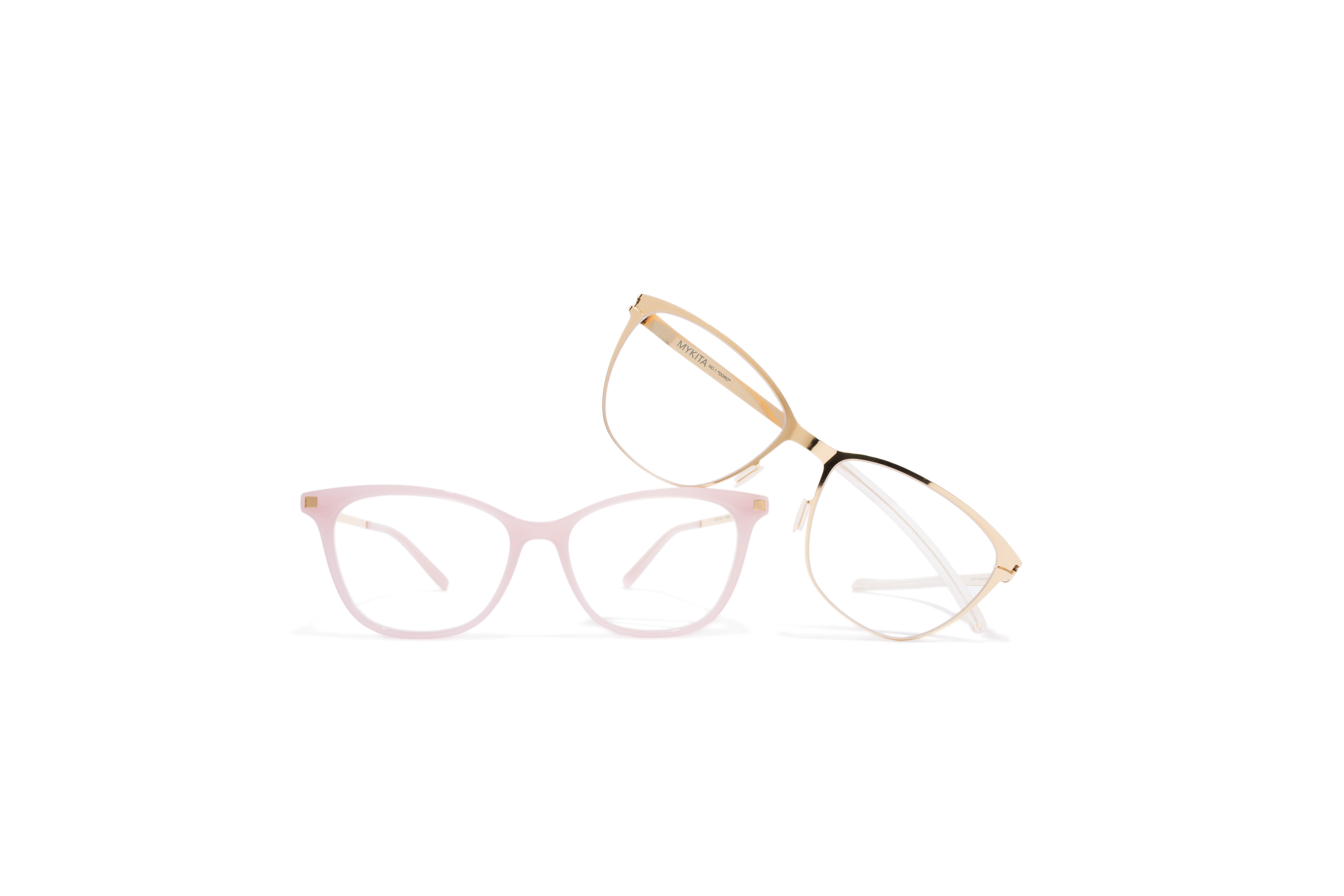 Butterfly Rx MYKITA No1 Rx Doro Glossygold Clear Lite Rx Sesi Pink Sherbet Glossygold Clear Tif
