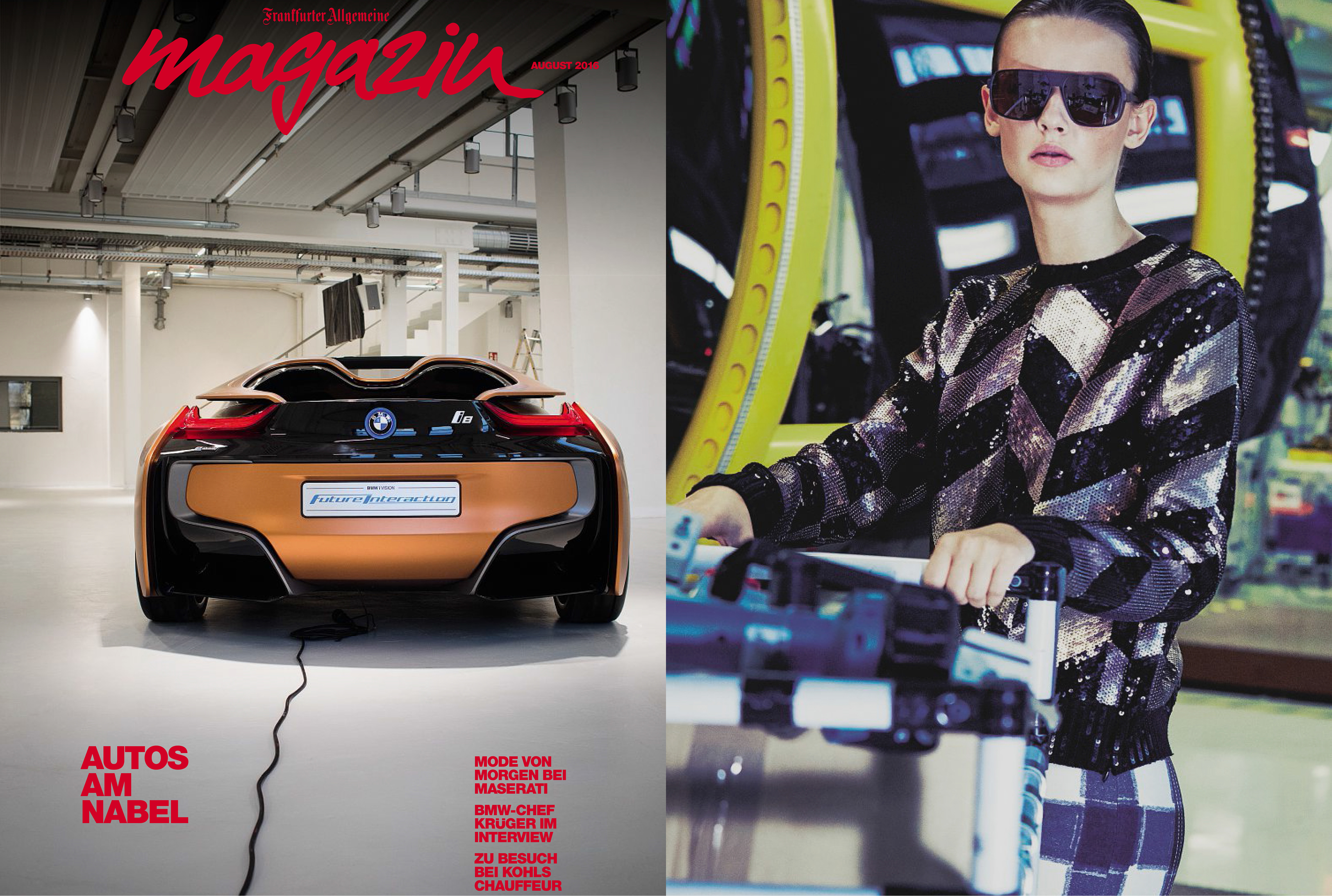 MYKITA MYLON sunglasses DAGGOO featured in FAZ Magazin Germany