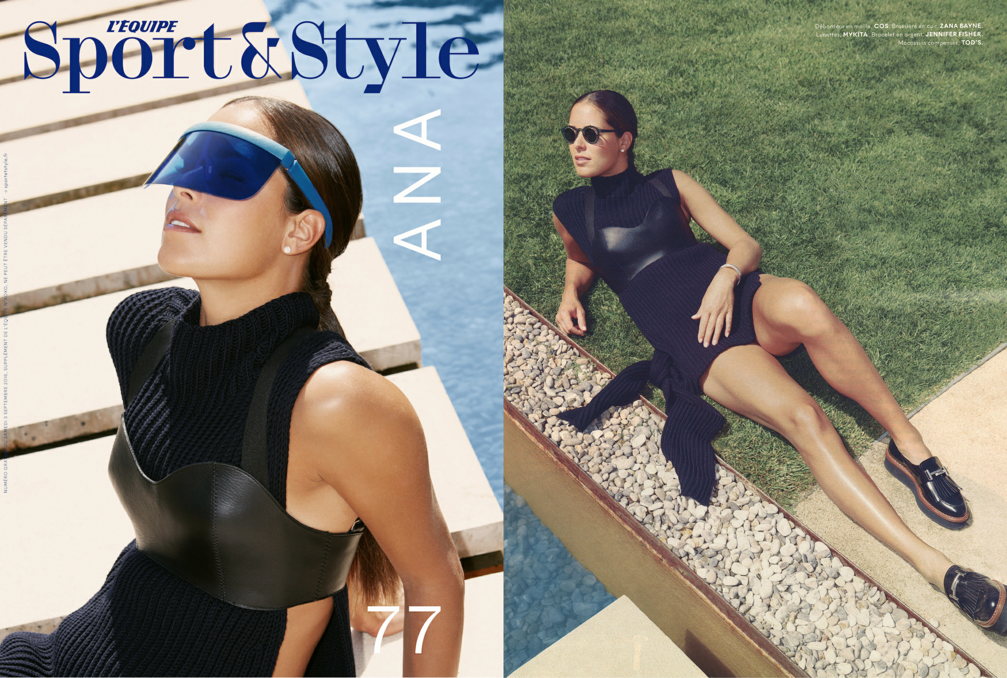 MYKITA & BERNHARD WILLHELM/MYKITA / DAMIR DOMA sunglasses featured in L'Equipe Sport&Style France