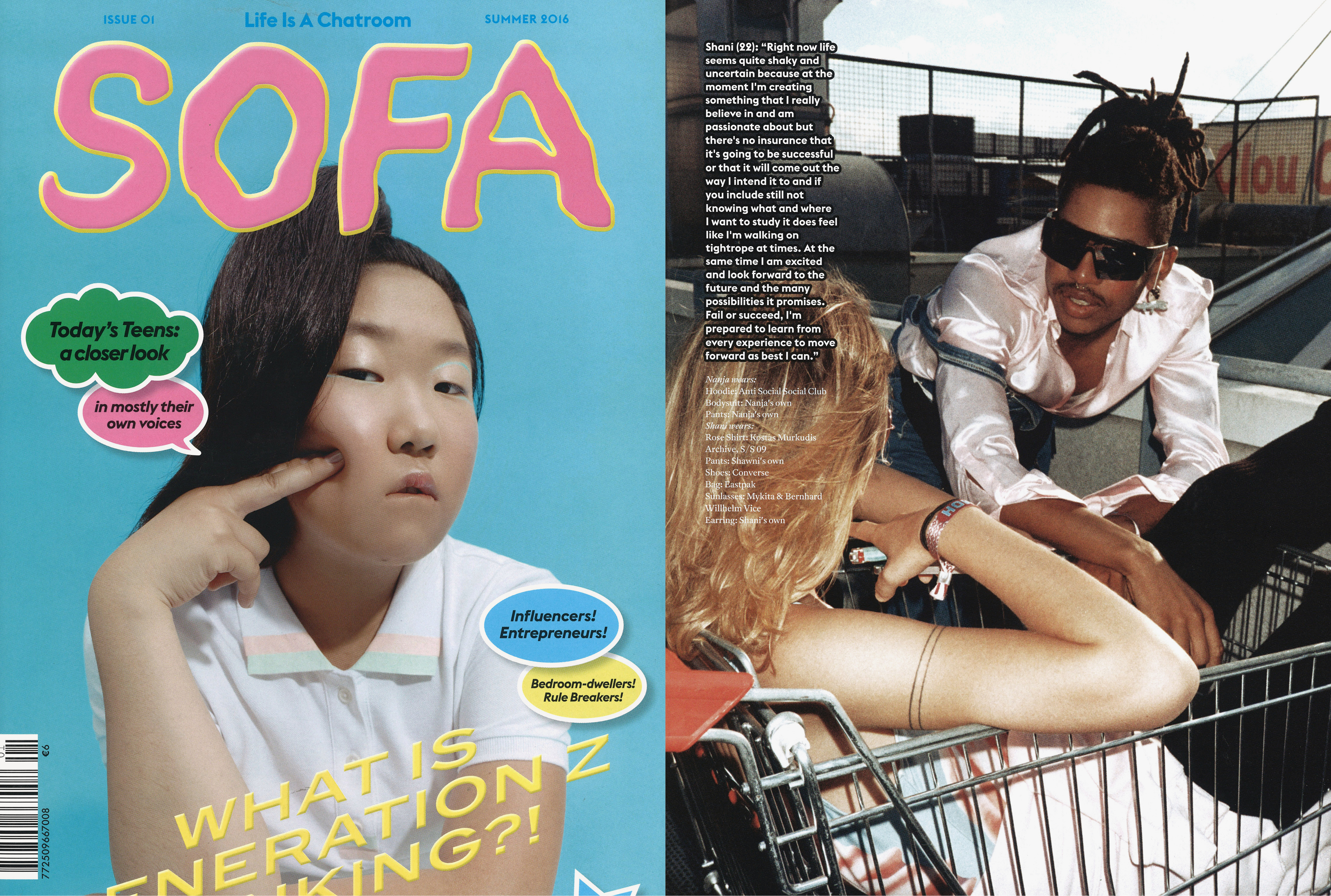 MYKITA & BERNHARD WILLHELM sunglasses featured in Sofa Germany