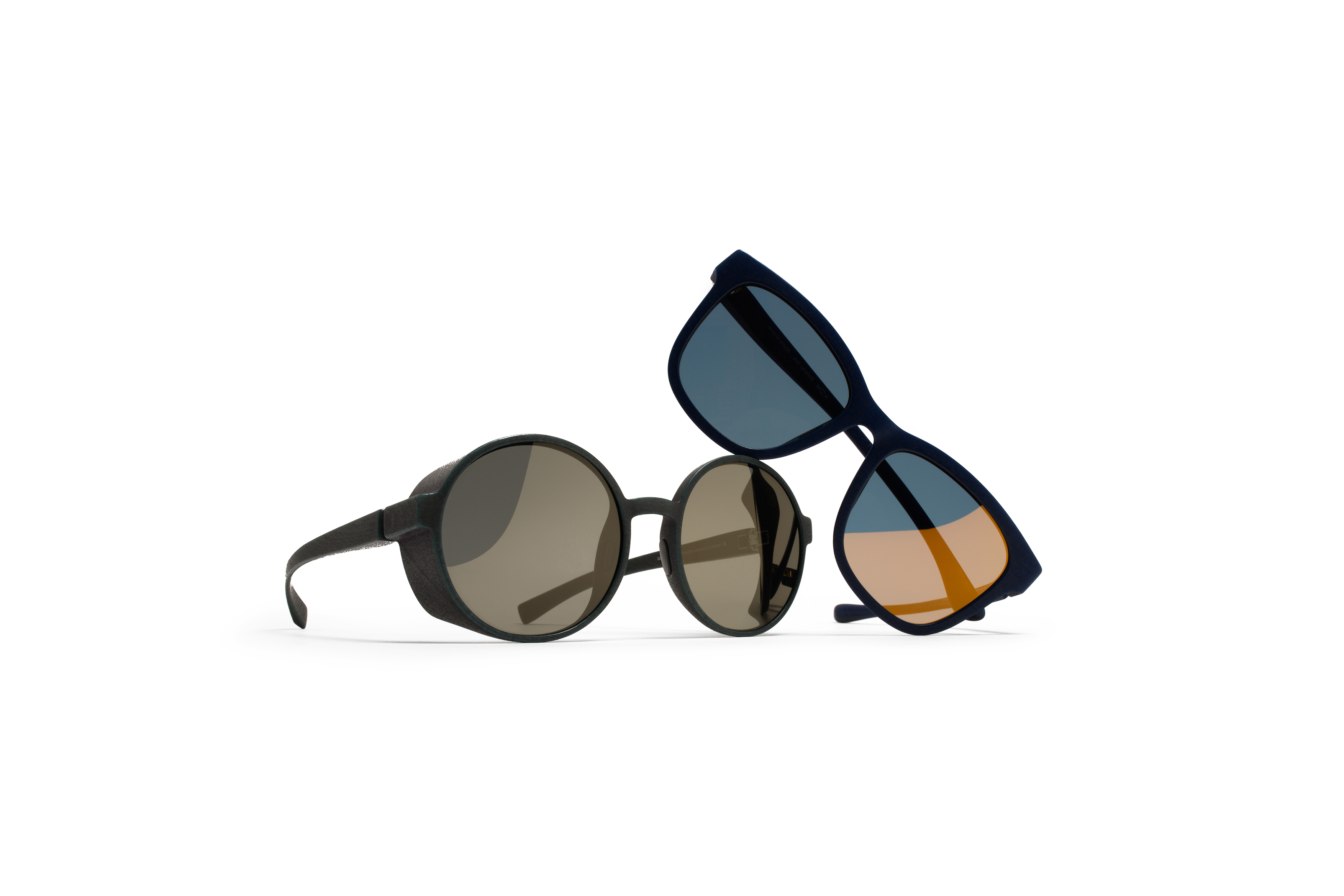 MYKITA Mylon Sun Levante Md25 Navy Blue Pearlygold Flash Jiro Md8 Strom Grey Gunmetal Flash Gs