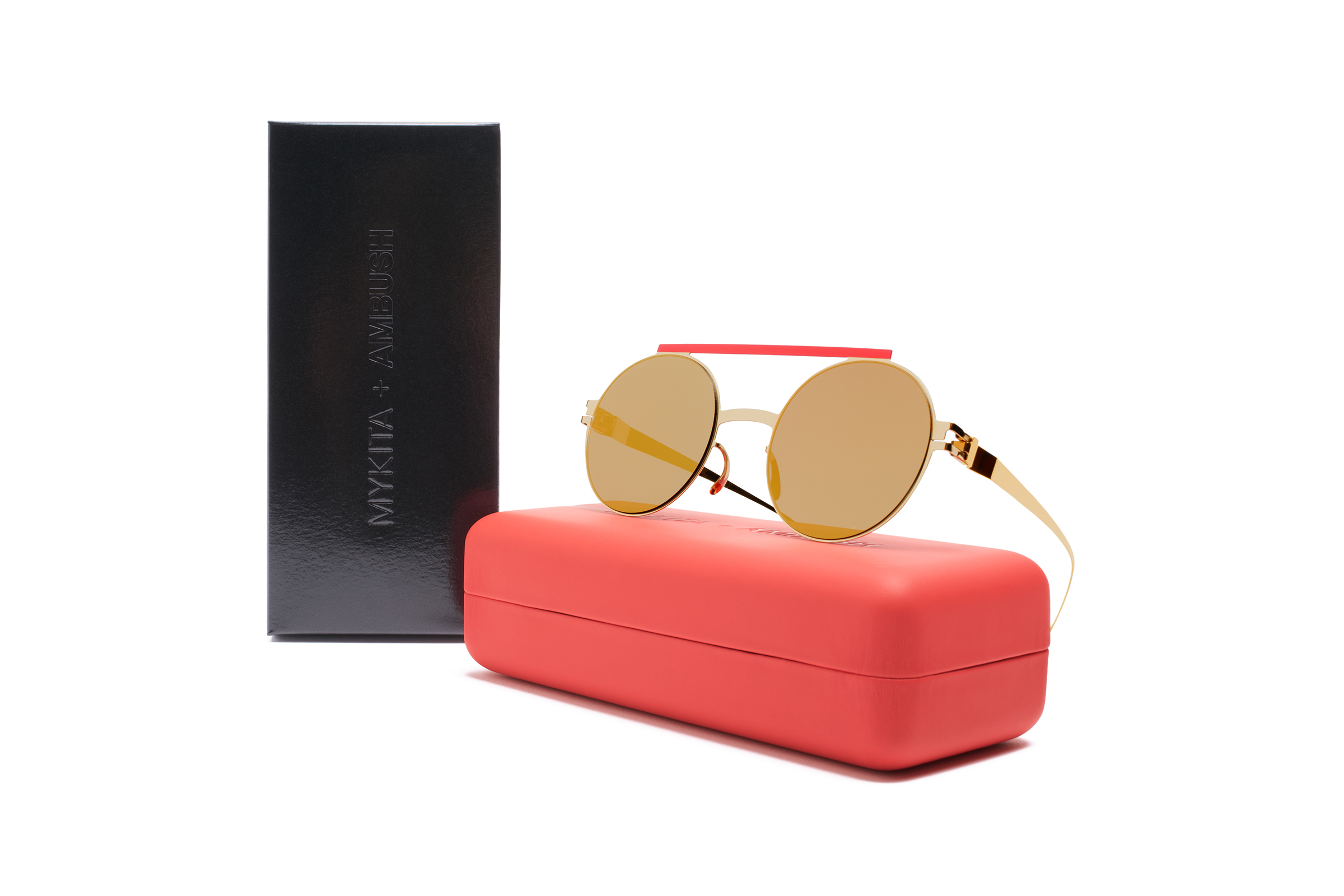 MYKITA Ambush Sun Verbal Gold Red Reverse Gold Ps