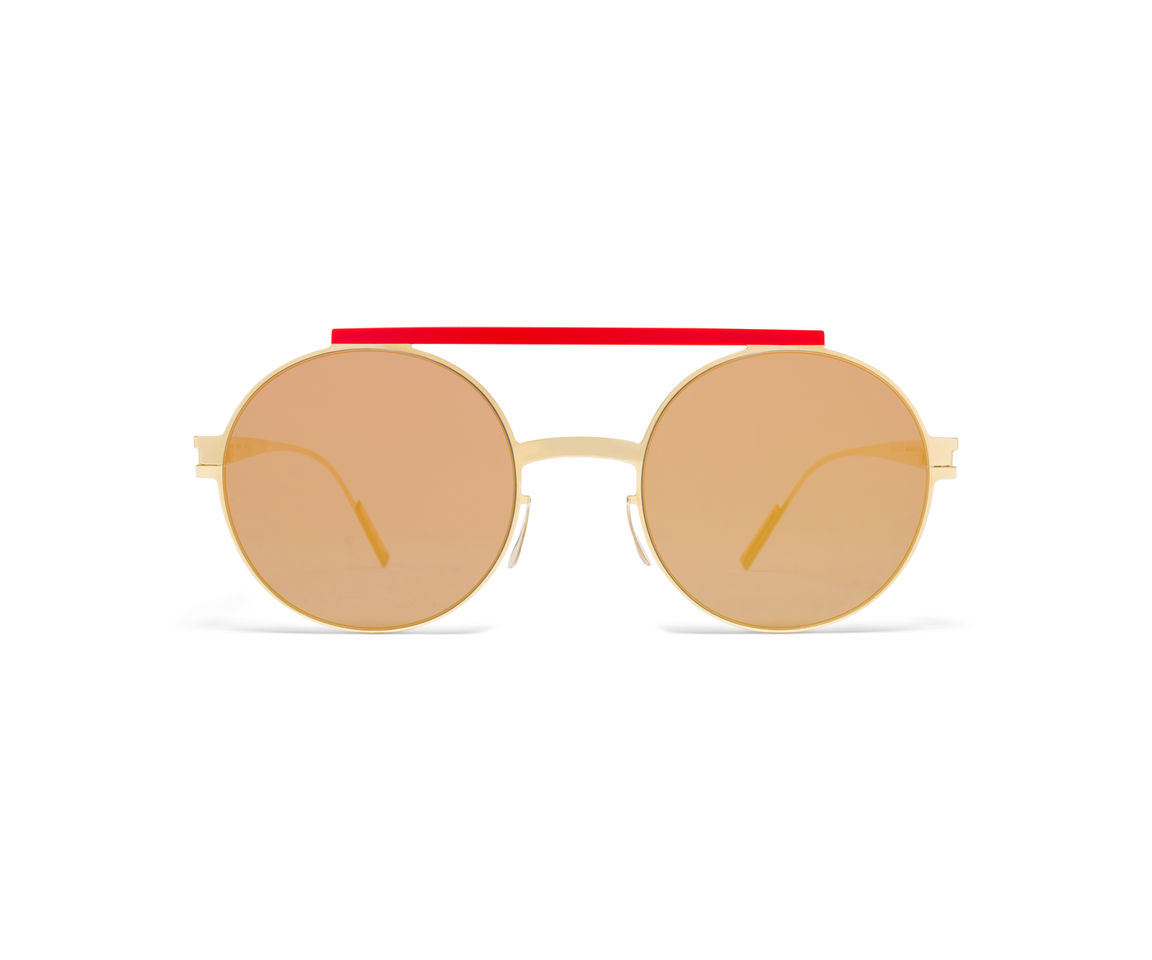 MYKITA Ambush Sun Verbal Gold Red Reverse Red