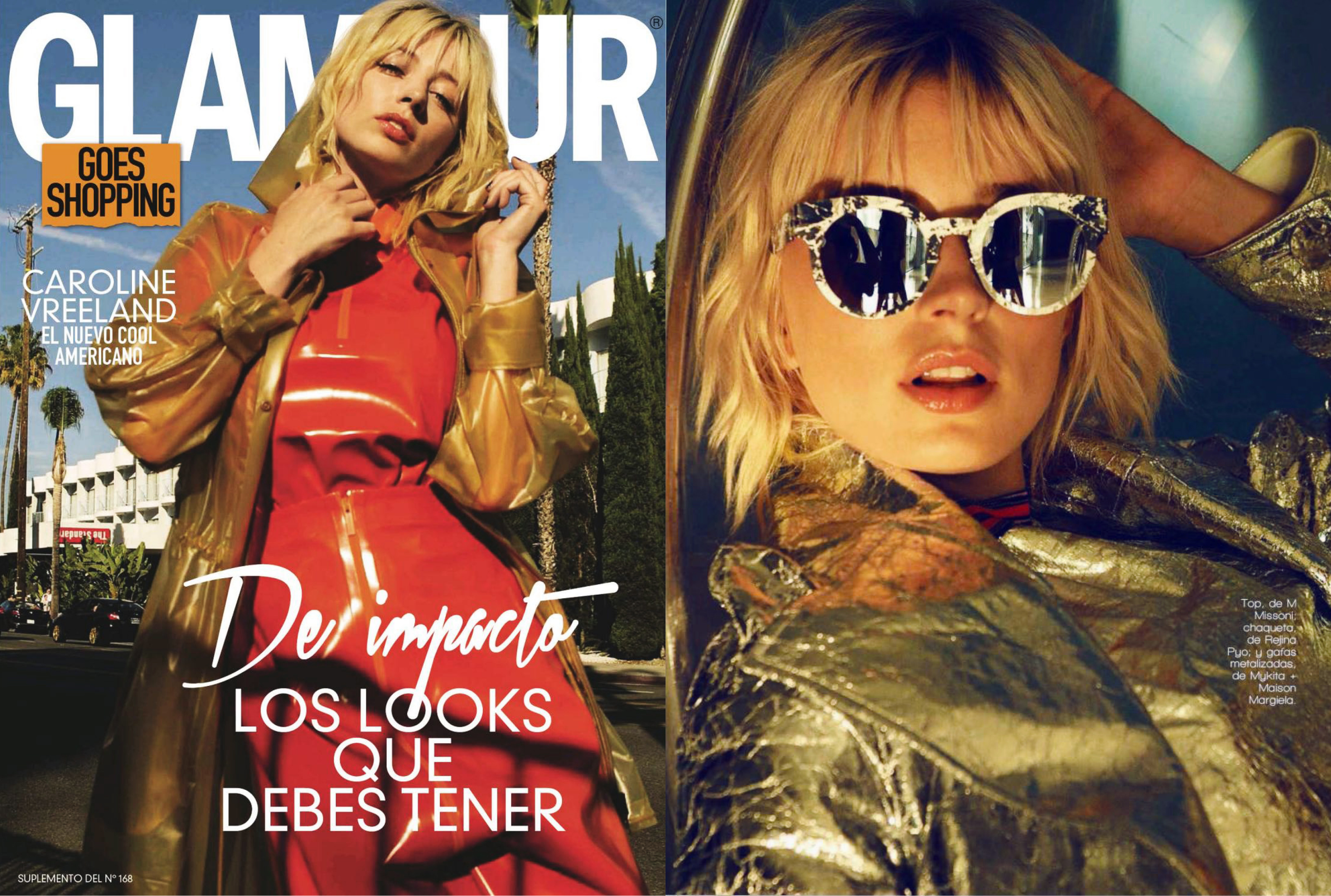 MYKITA + MAISON MARGIELA sunglasses MMTRANSFER001 featured in Glamour Spain