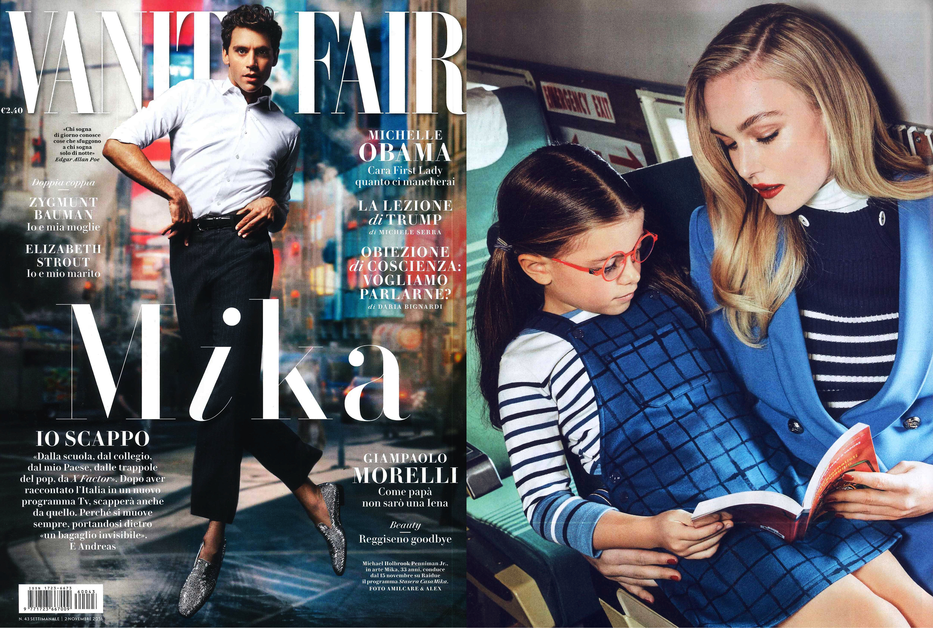 MYKITA FIRST glasses PANDA featured in Vanity Fair Italy