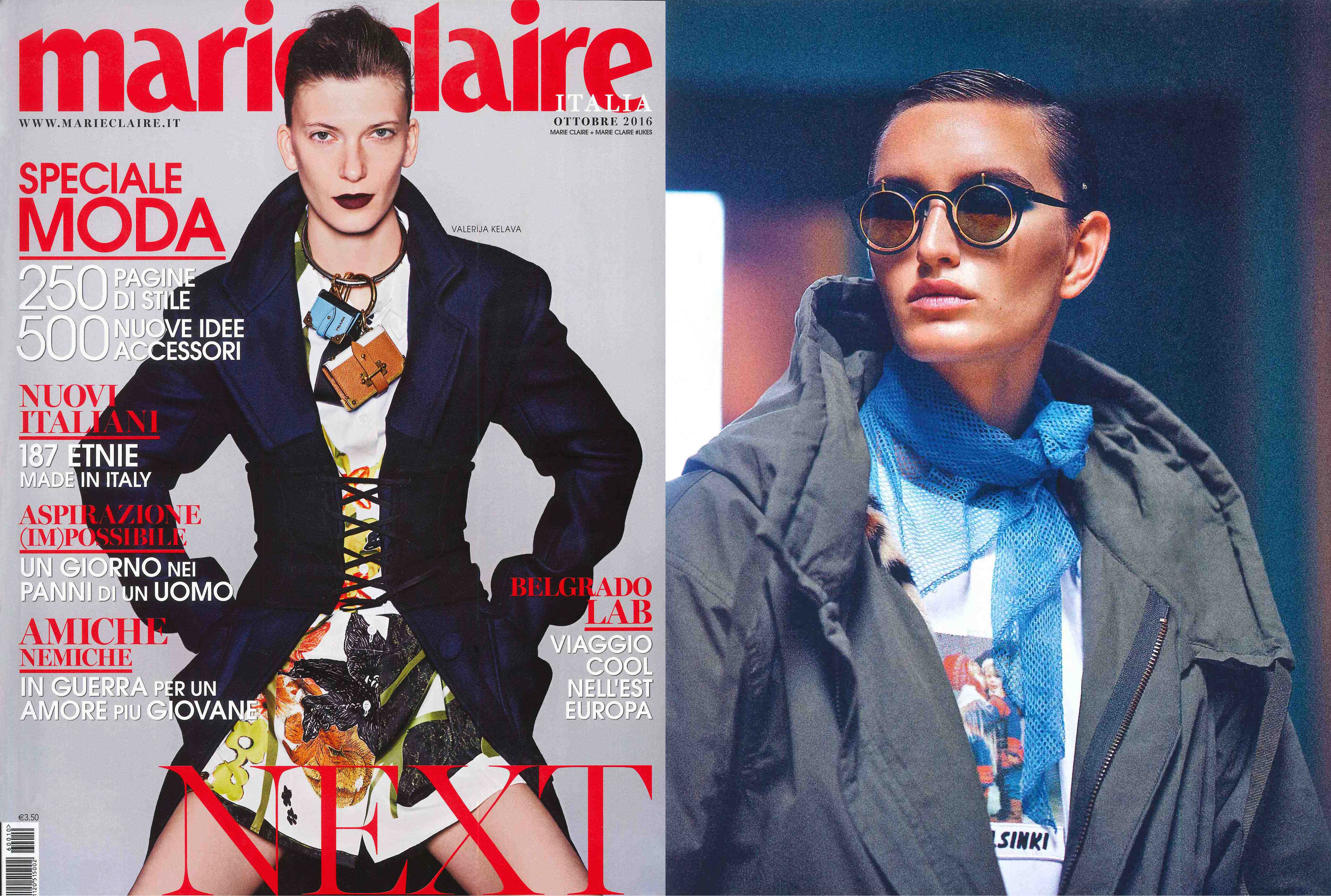 MYKITA / DAMIR DOMA sunglasses BRADFIELD featured in Marie Claire Italy