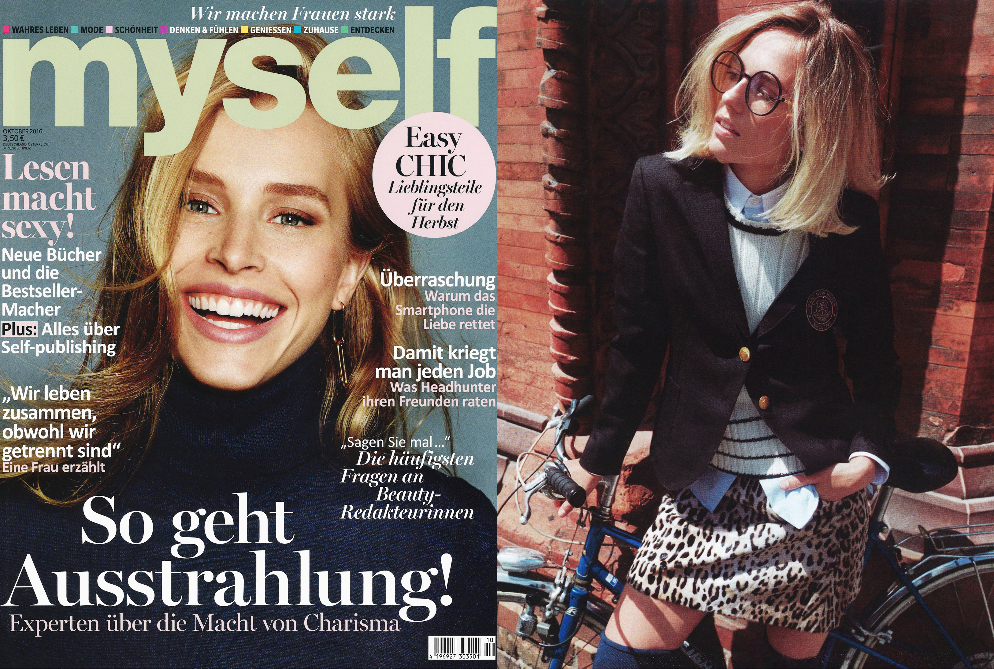 MYKITA LITE glasses ANANA featured in MYSELF Germany