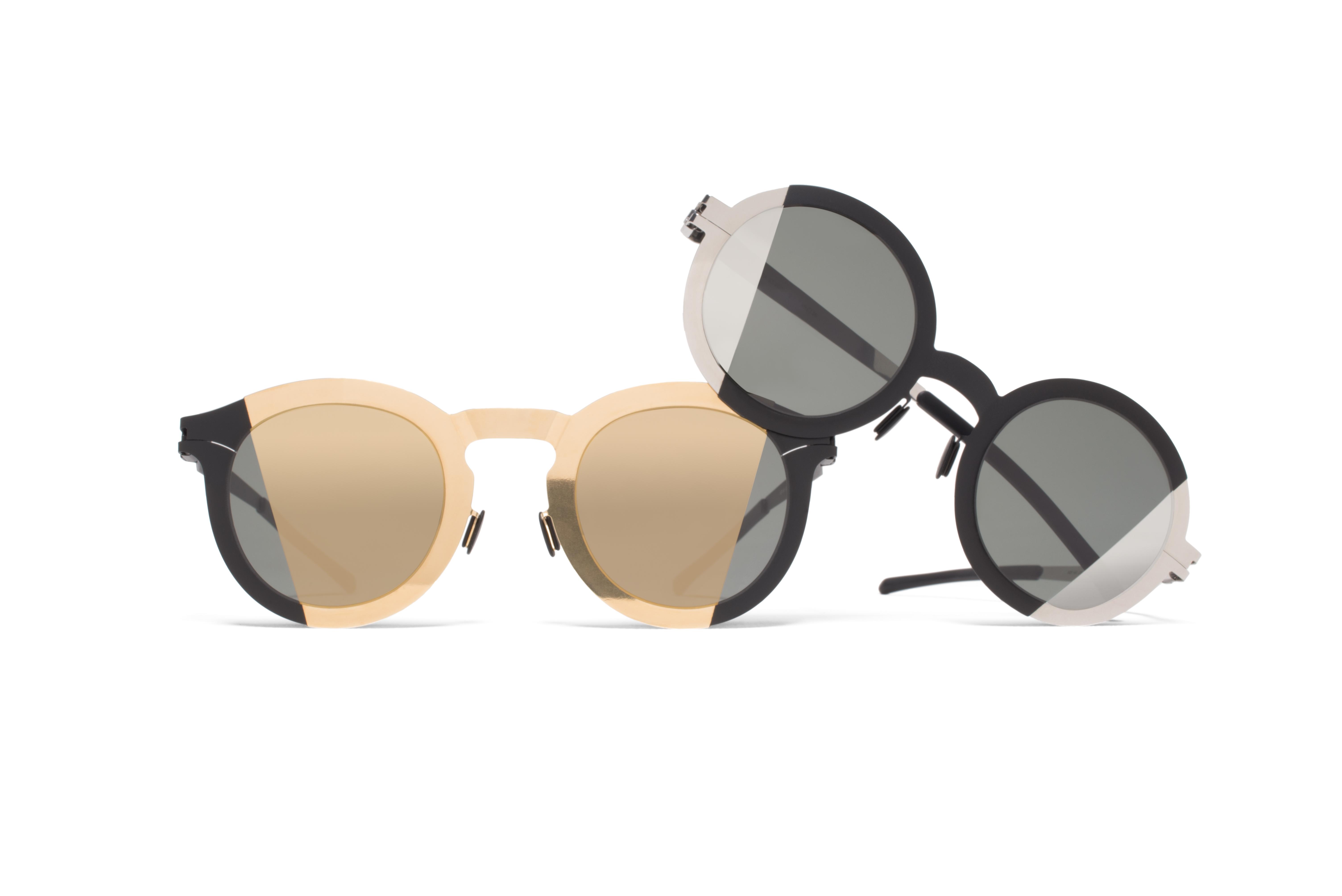 Mykita Studio 2.2 Sunglasses in Silver and Black Metal Maison Martin Margiela aXpMG9Sd