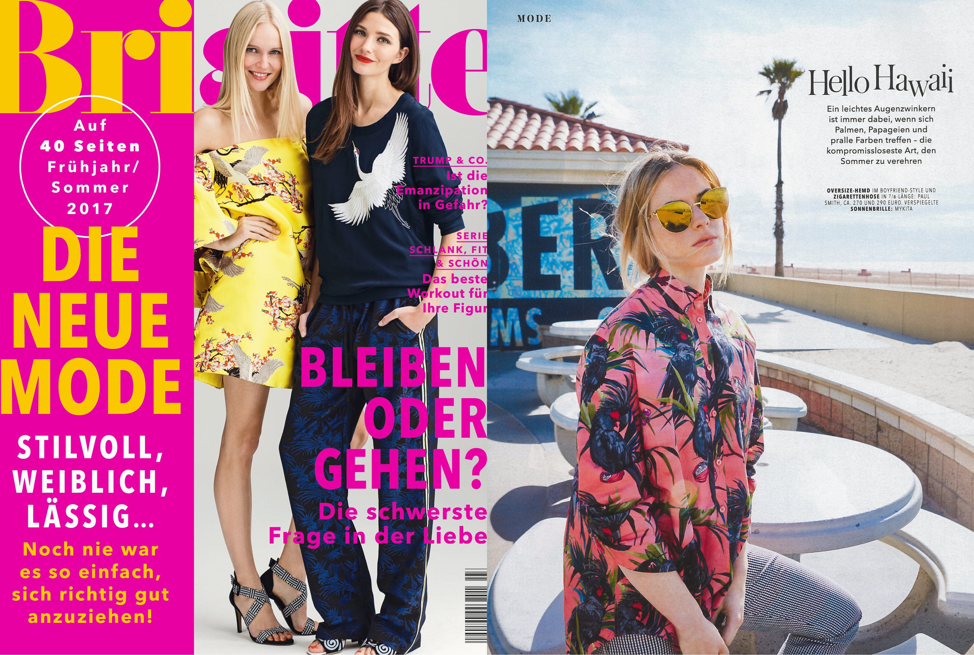 MYKITA & BERNHARD WILLHELM SUN BEVERLY FEATURED IN BRIGITTE GERMANY