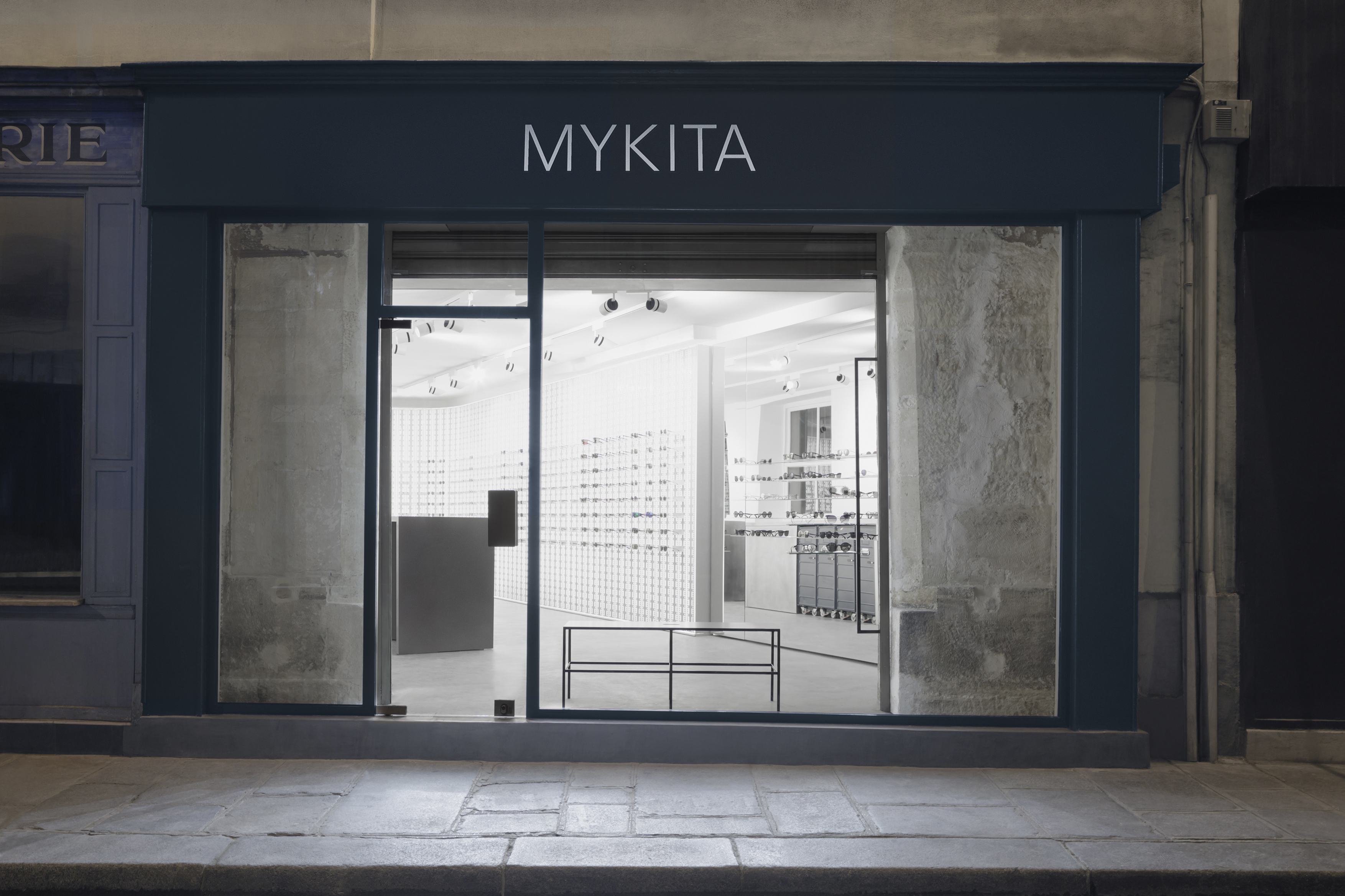 The exterior of the new MYKITA Shop Paris in Le Marais.
