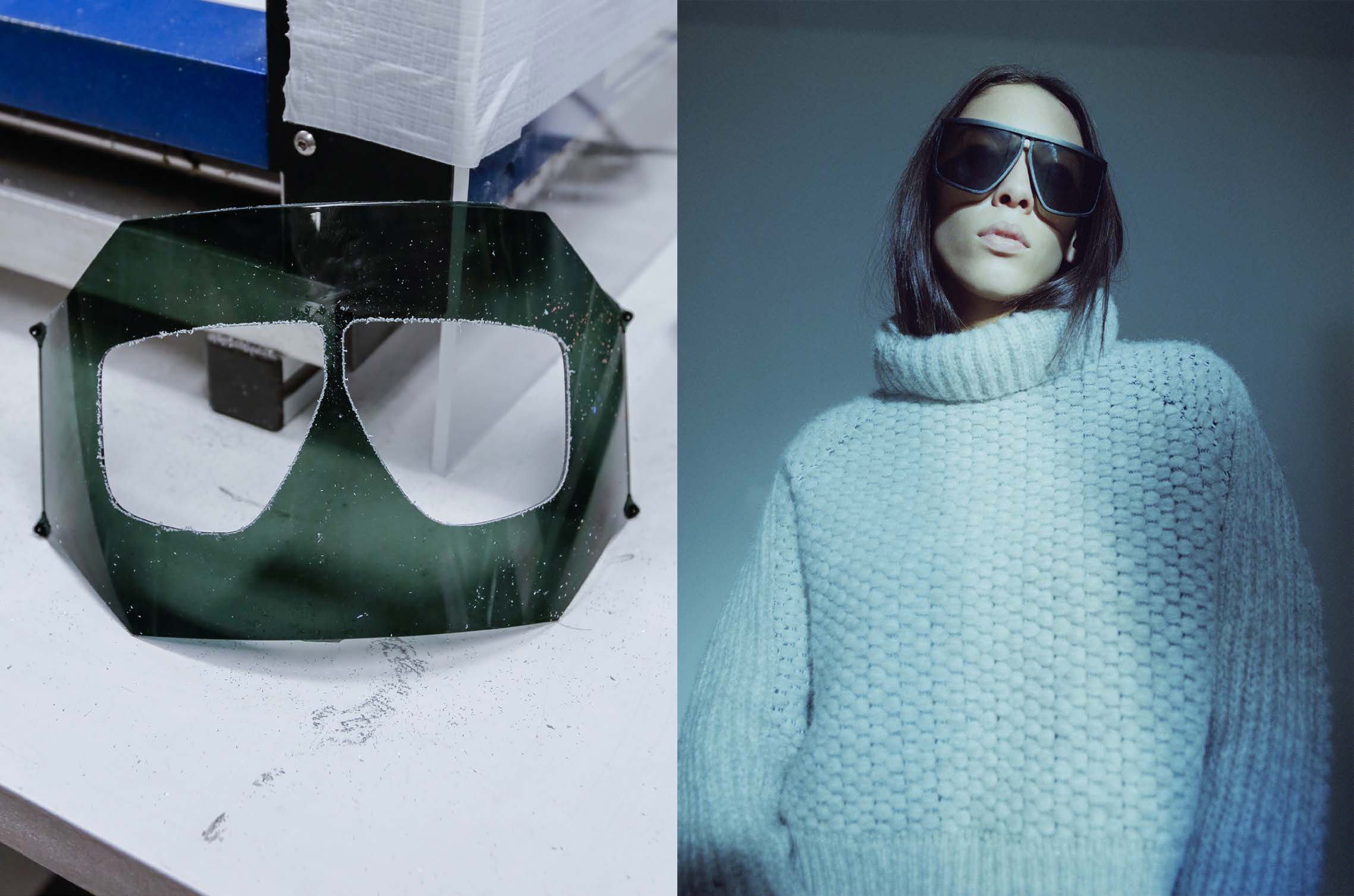 Image from Tim Coppen's book Candylips picturing the MYKITA + TIM COPPENS sunglasses TEQUILA