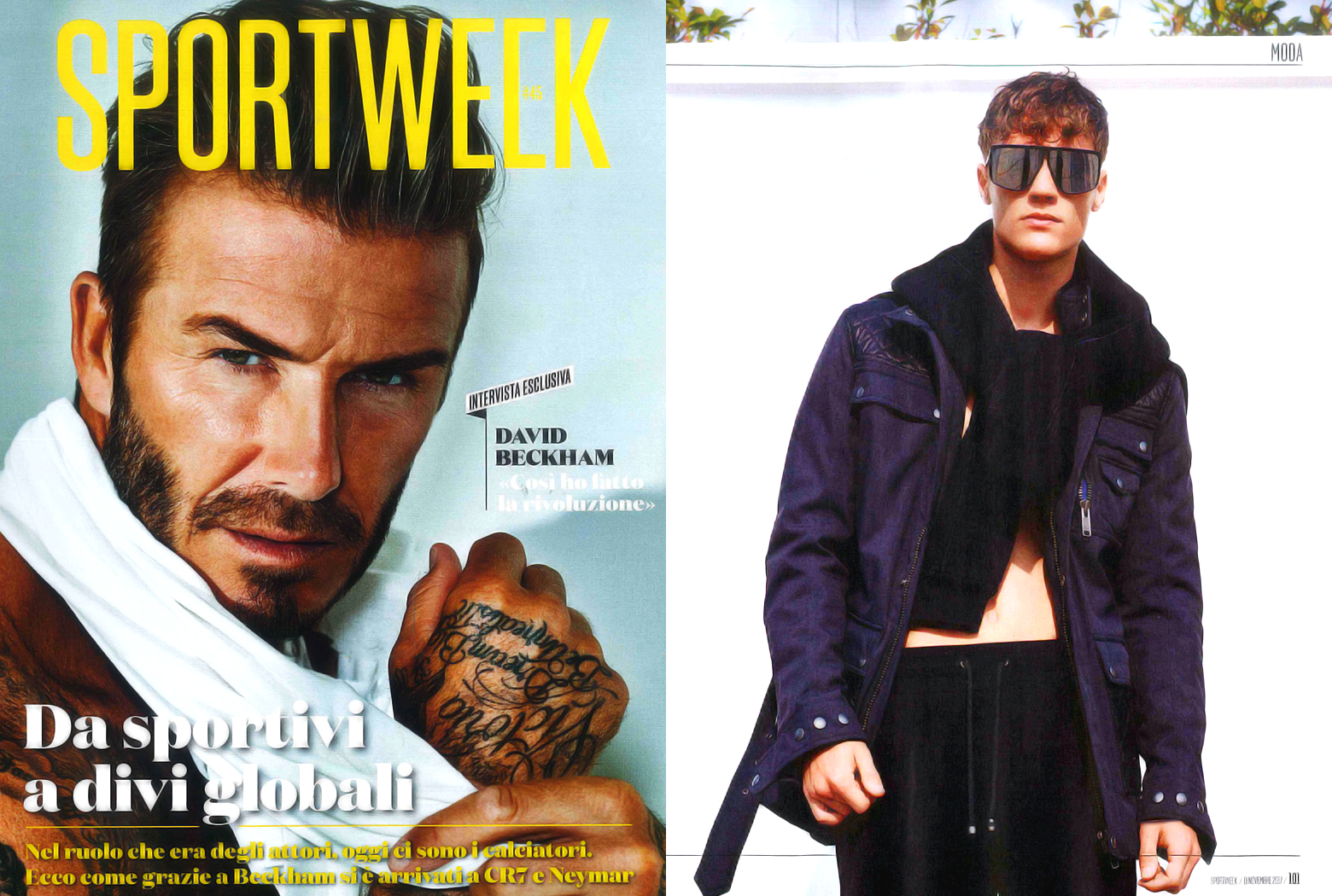 MYKITA + TIM COPPENS TEQUILA sunglasses featured in Sportweek Italy