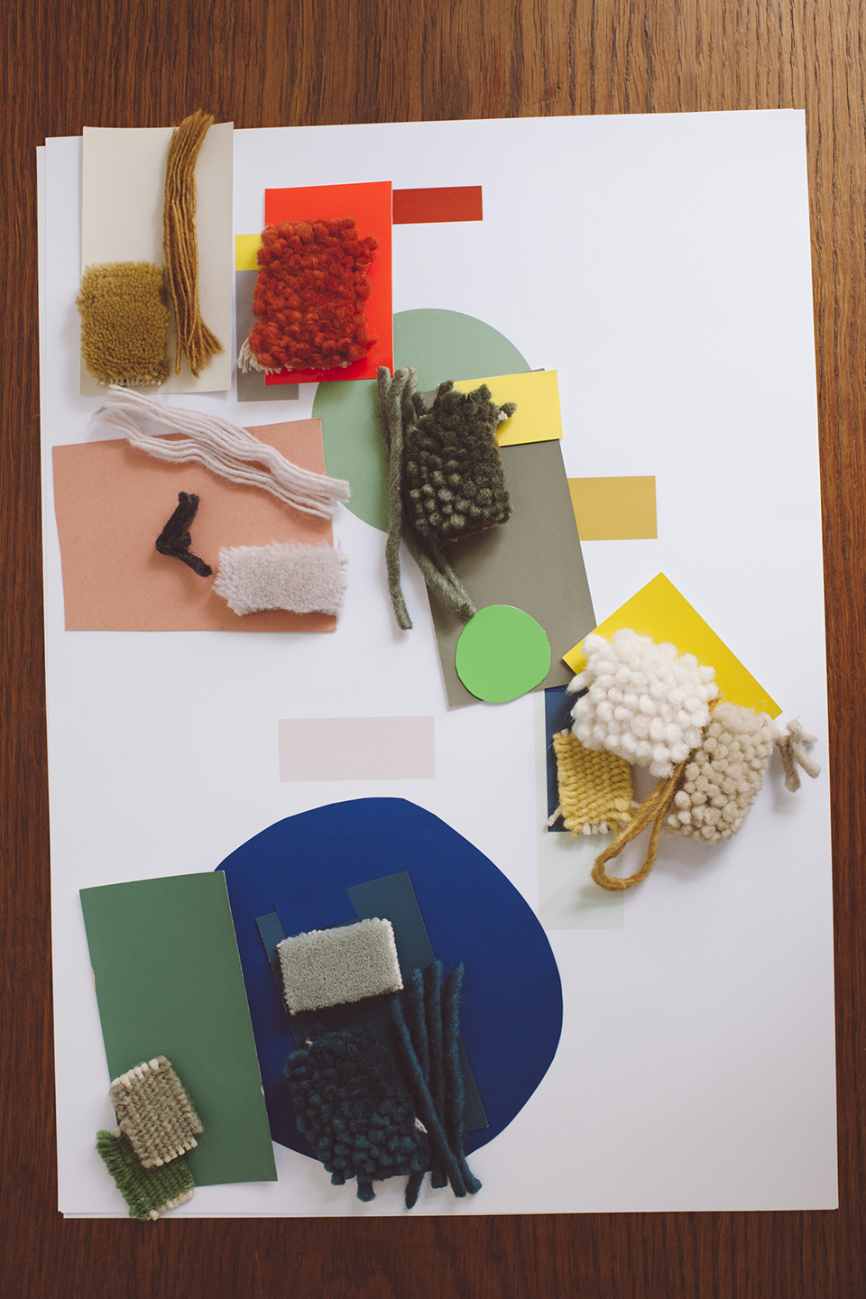 At Studio Greiling: colour and texture mood board.