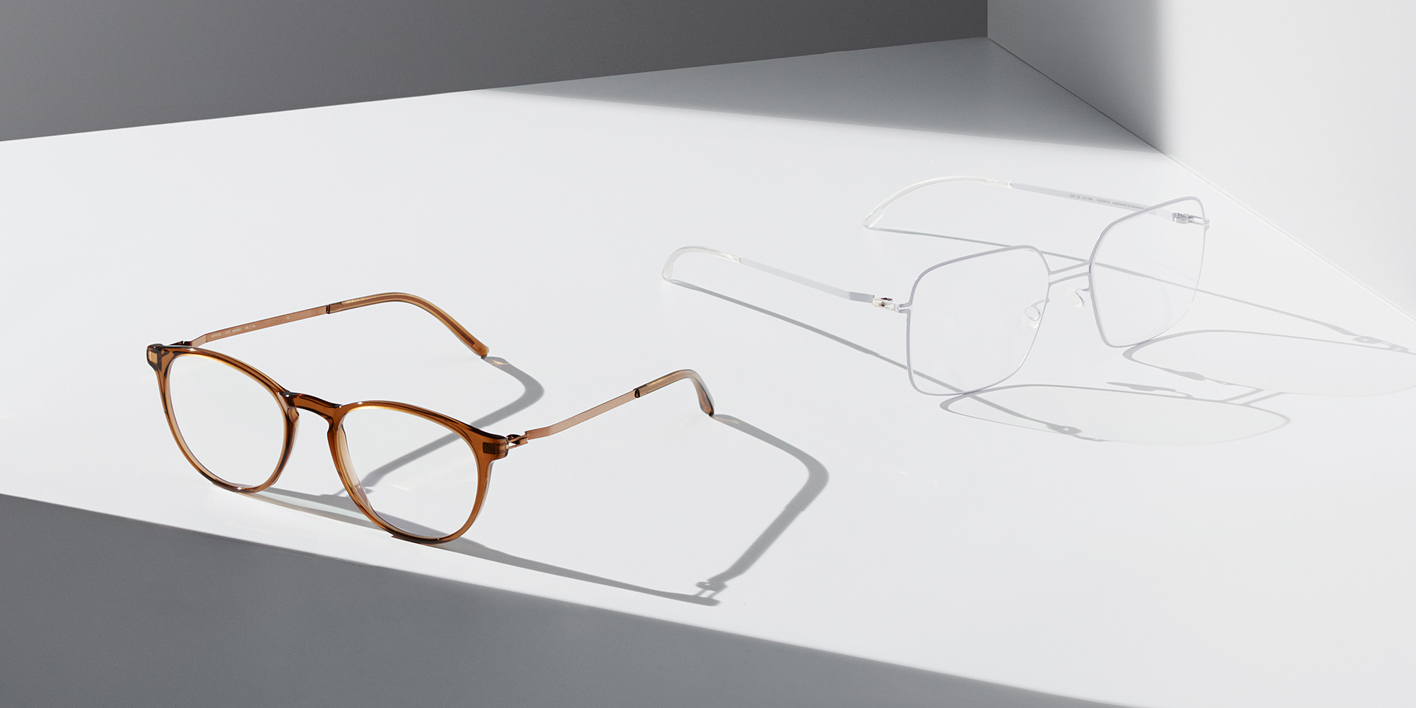 MYKITA New Arrivals Silmo Optical Glasses MYKITA Lite Acetate Rx Nukka C73 Topaz Shiny Copper Clear MYKITA Lite Rx Grey