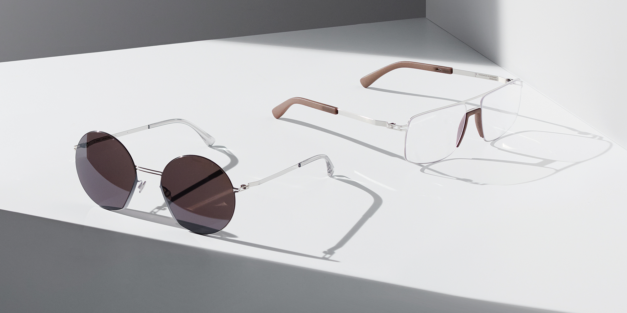 MYKITA New Arrivals Silmo Optical Glasses Sunglasses MYKITA Mylon Hybrid Rx Moss Mh36 Taupe Grey Shiny Silver Clear Sun