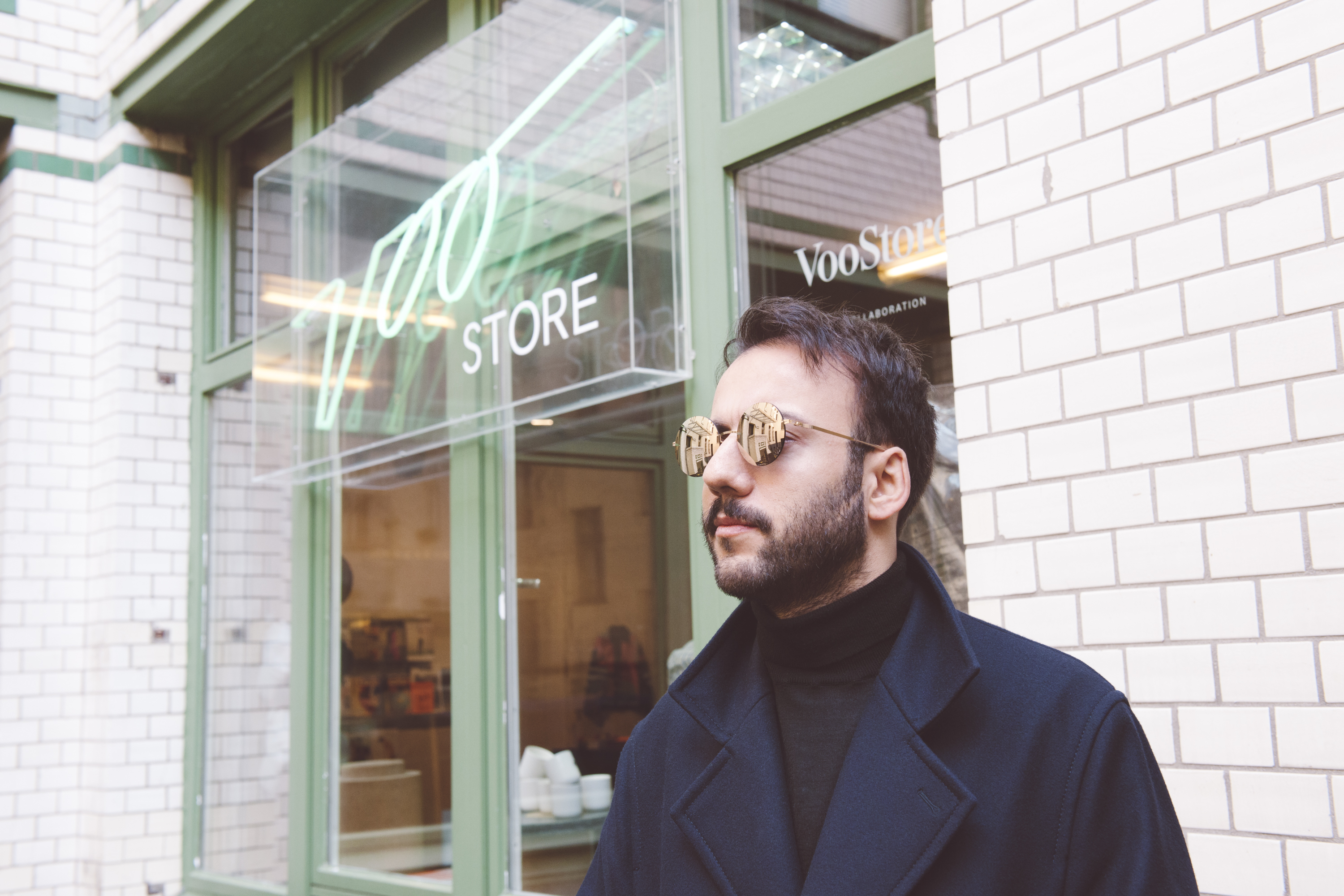 Yasin steps out in LESSRIM sunglasses YOKO.
