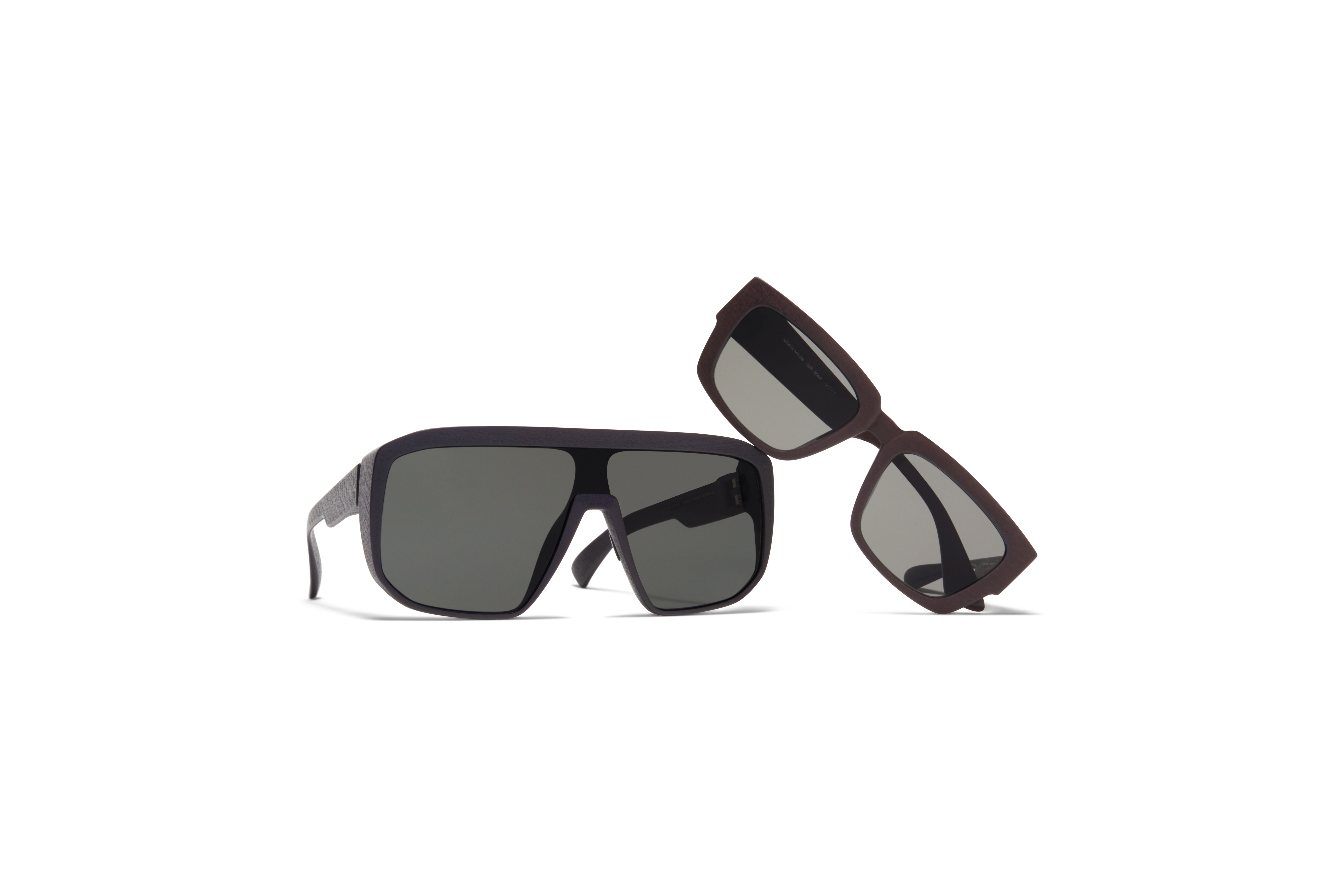 Mylon Sun MYKITA Mylon Sun Shift Md1 Pitch Black Dark Grey Solid Shield MYKITA Mylon Sun Bond Md22 Ebony Brown Grey