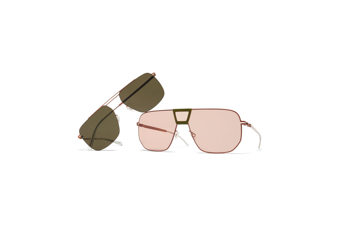 f55741bb01 Aviator Sun MYKITA Mylon Hybrid Sun Cayenne Mh37 Khaki Shiny Copper Nude  Solid Shield MYKITA Less