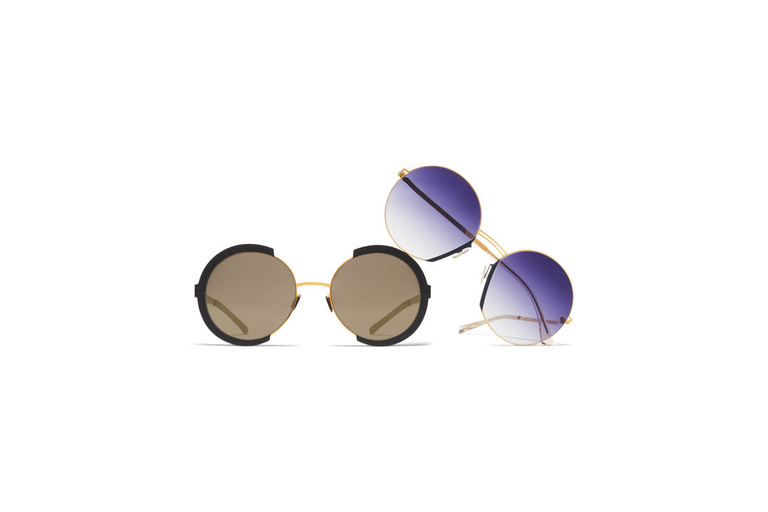 65cb109e36 Round Sun MYKITA Lite Acetate Sun Jette Gold Indigo Grey Gradient MYKITA  Decades Sun Houston Gold