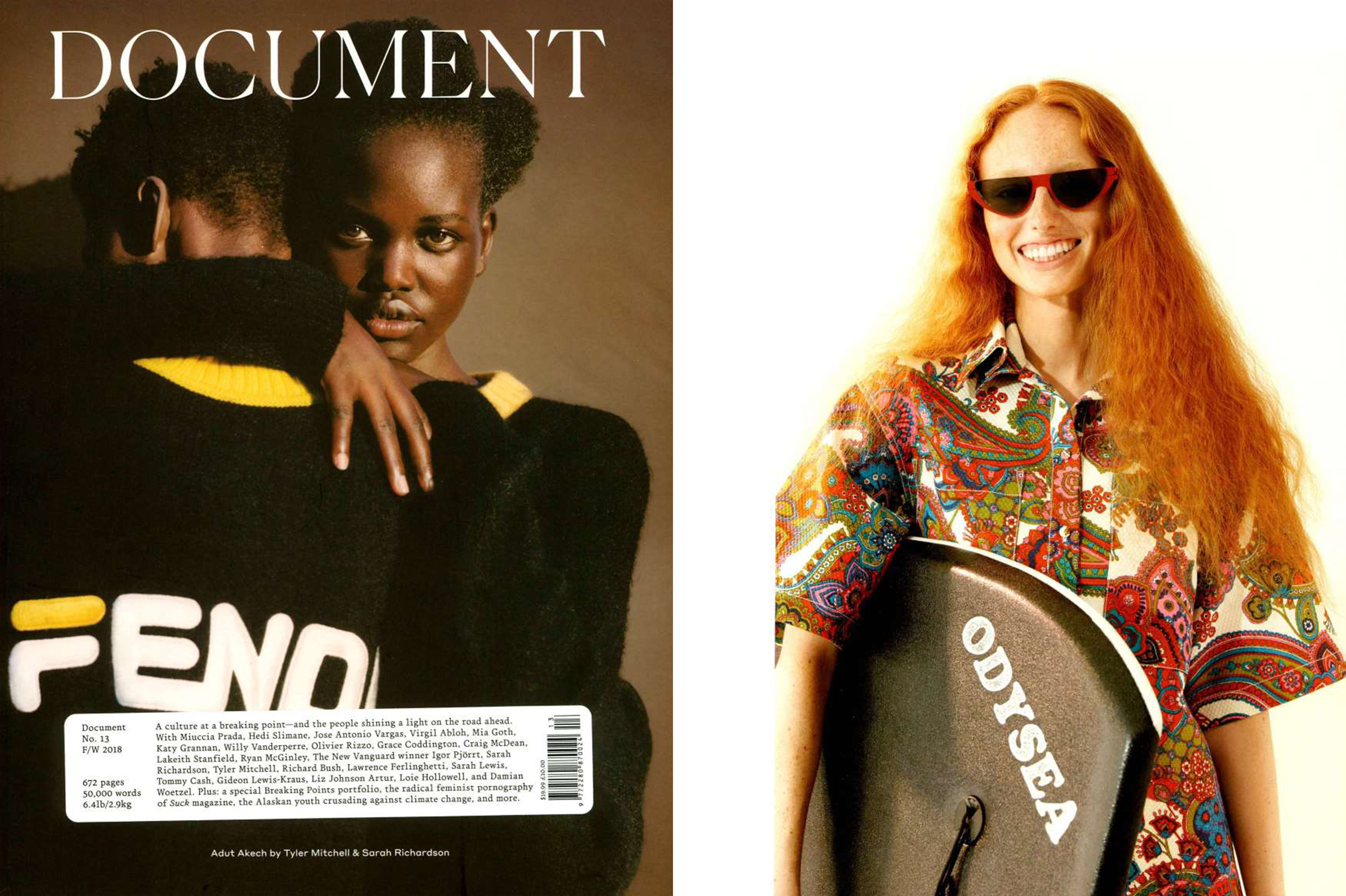 MYKITA + MARTINE ROSE sunglasses KITT featured in DOCUMENT USA
