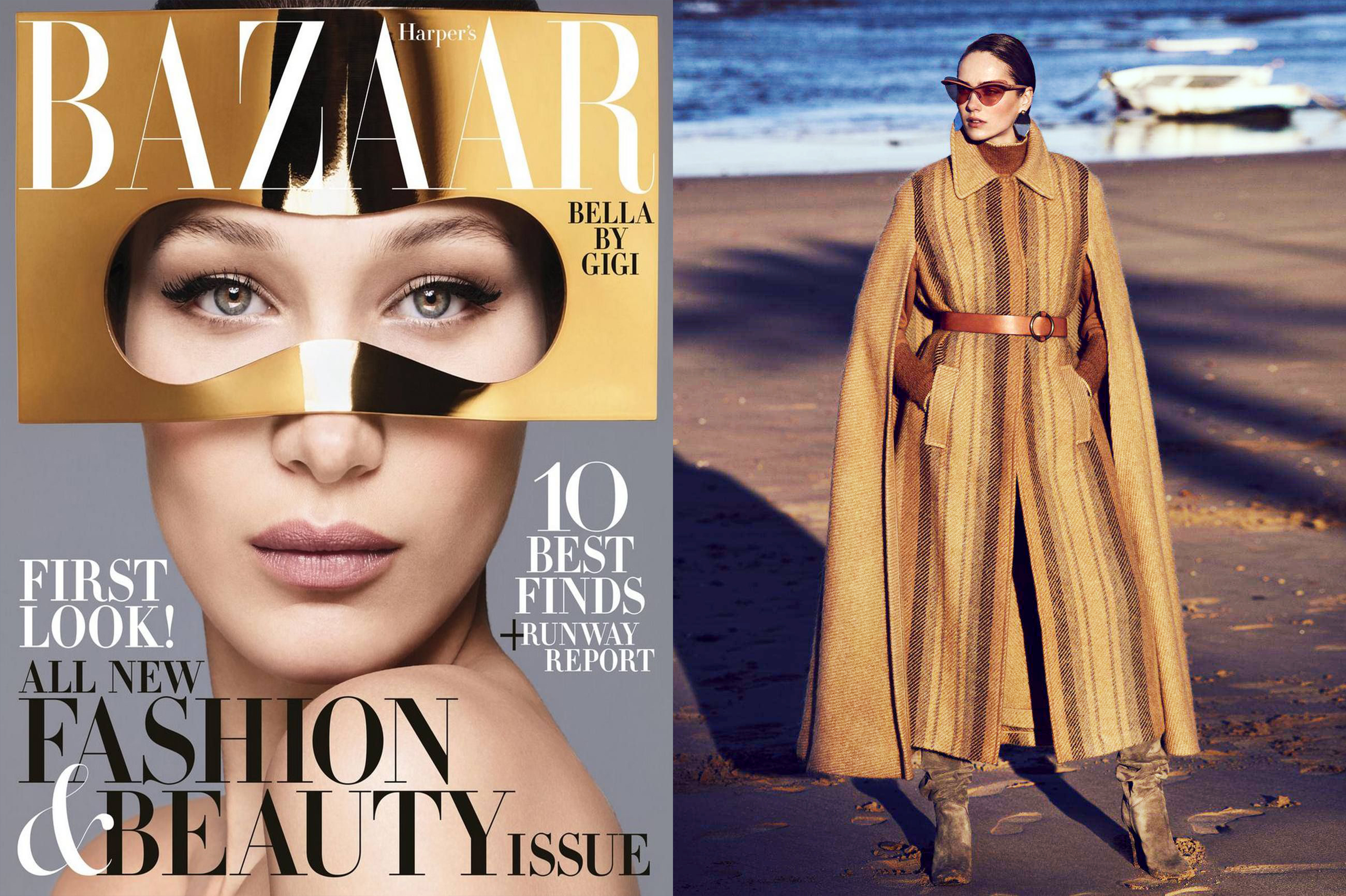 MYKITA + MAISON MARGIELA sunglasses MMECHO001 featured in HARPER'S BAZAAR USA